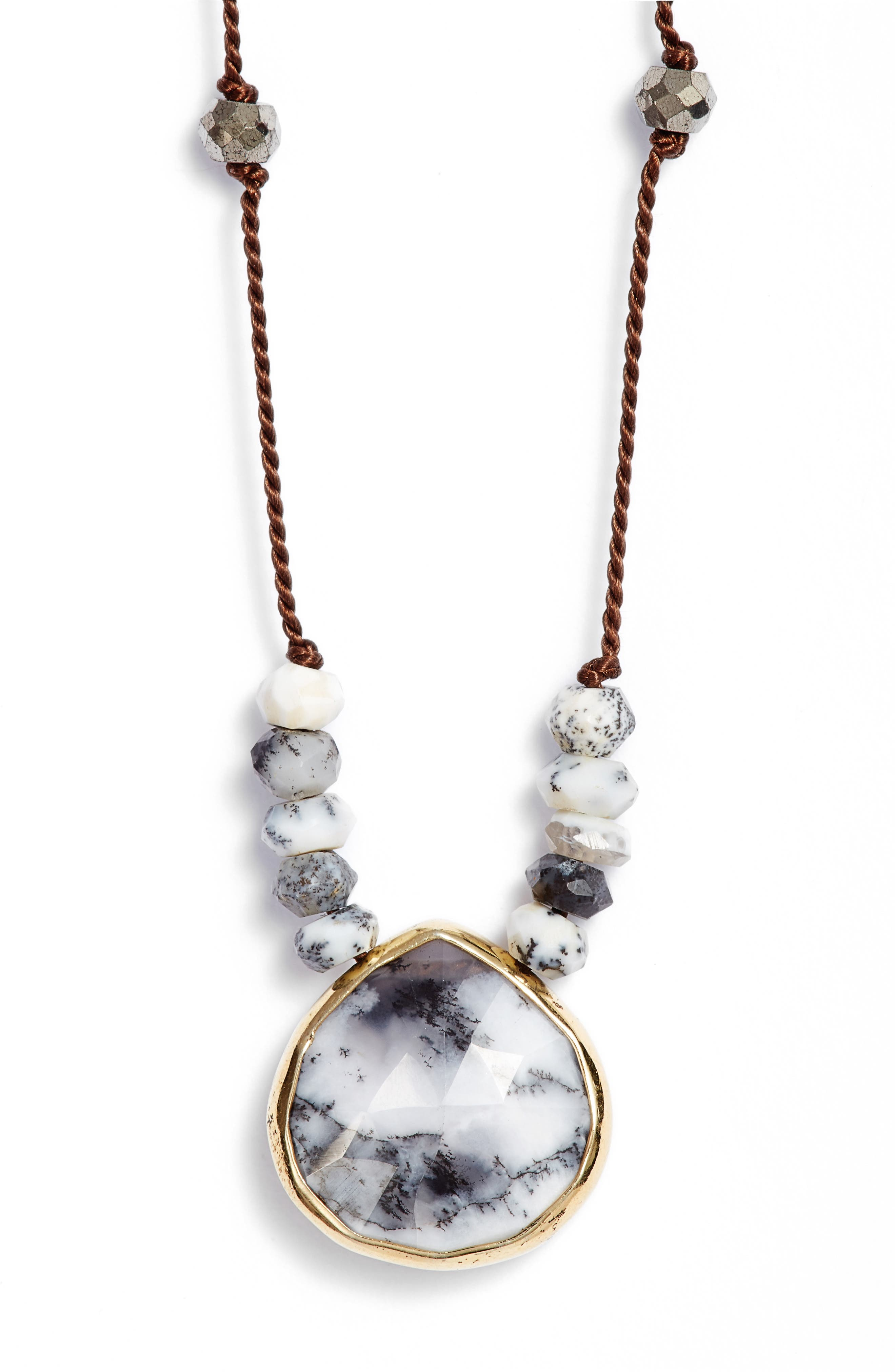 ELA RAE, Sylvie Semiprecious Stone Necklace, Main thumbnail 1, color, 406