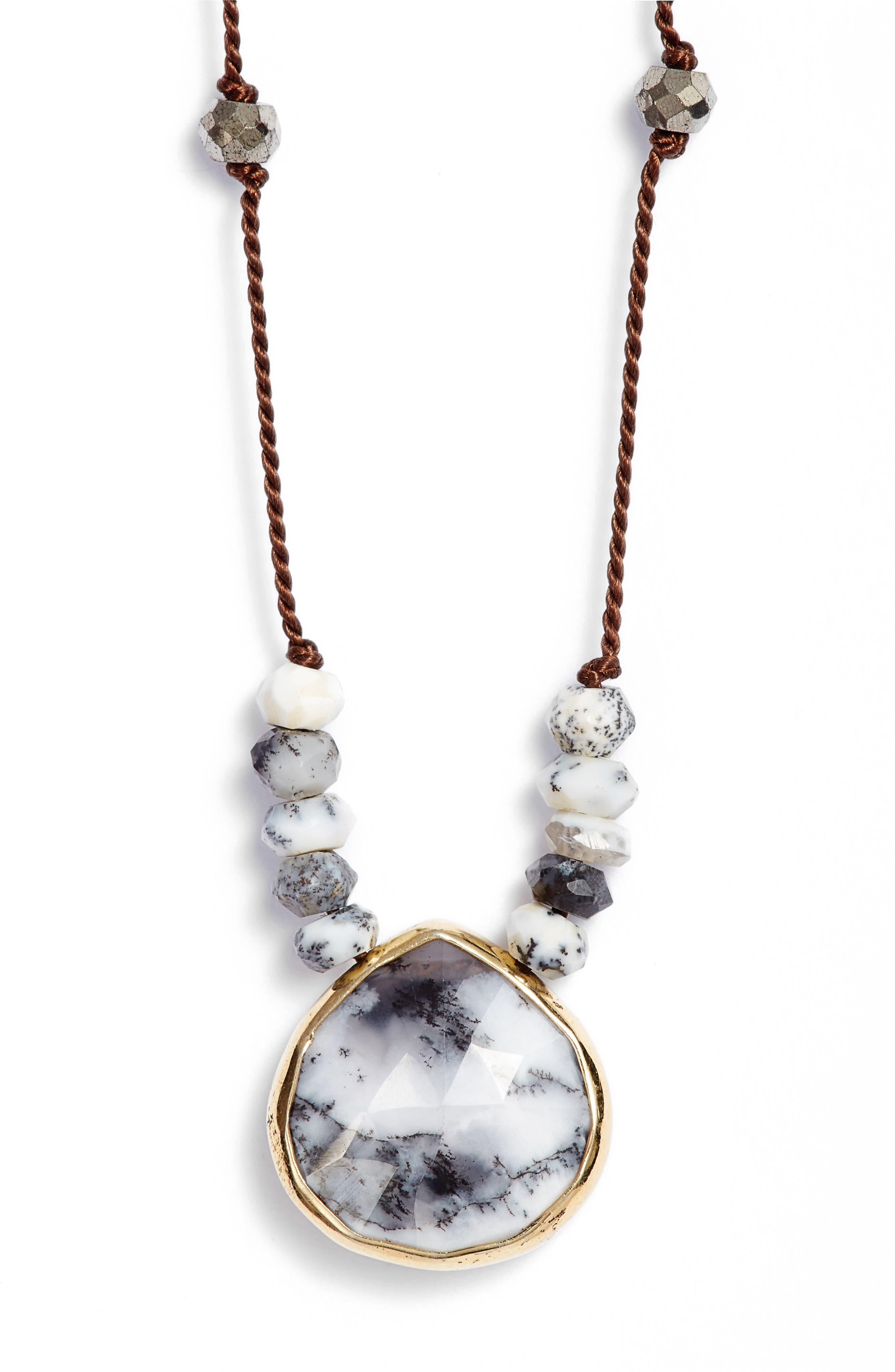 ELA RAE Sylvie Semiprecious Stone Necklace, Main, color, 406