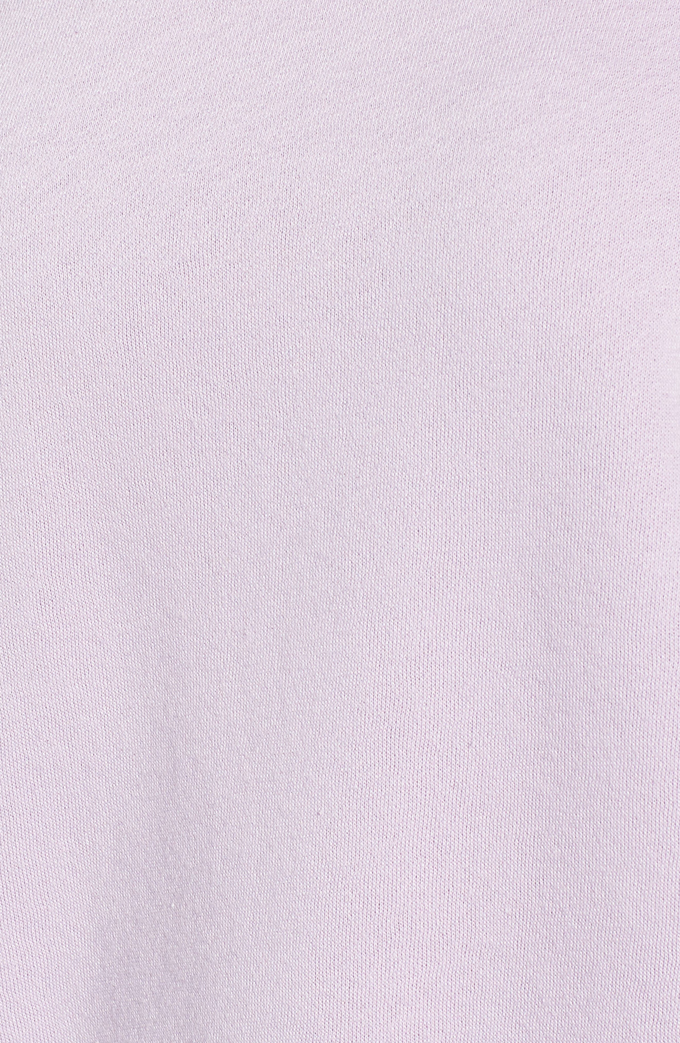REBECCA MINKOFF, Gracie Cold Shoulder Sweatshirt, Alternate thumbnail 6, color, 502