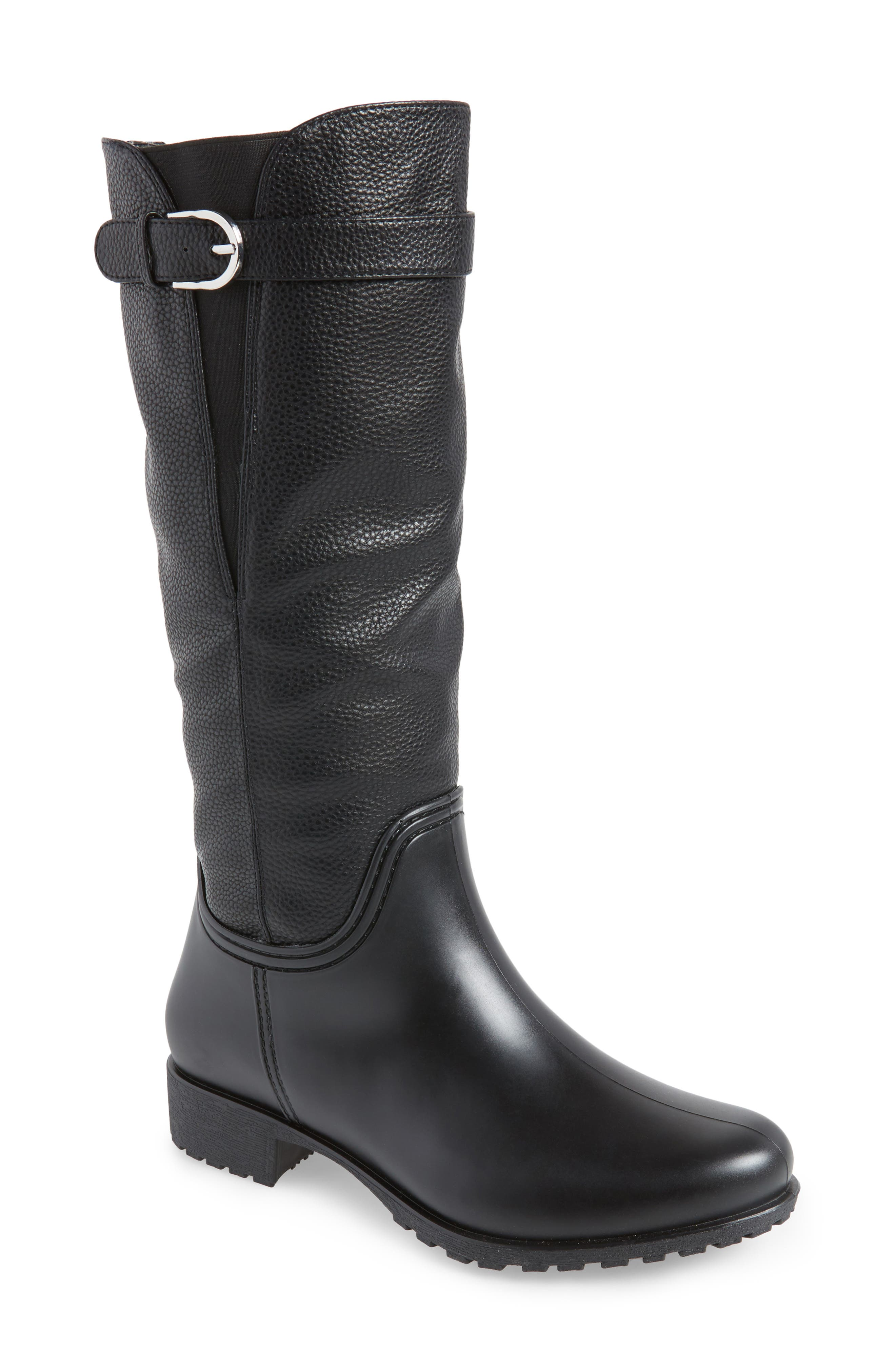 DÄV Dunkirk Water Resistant Boot, Main, color, BLACK