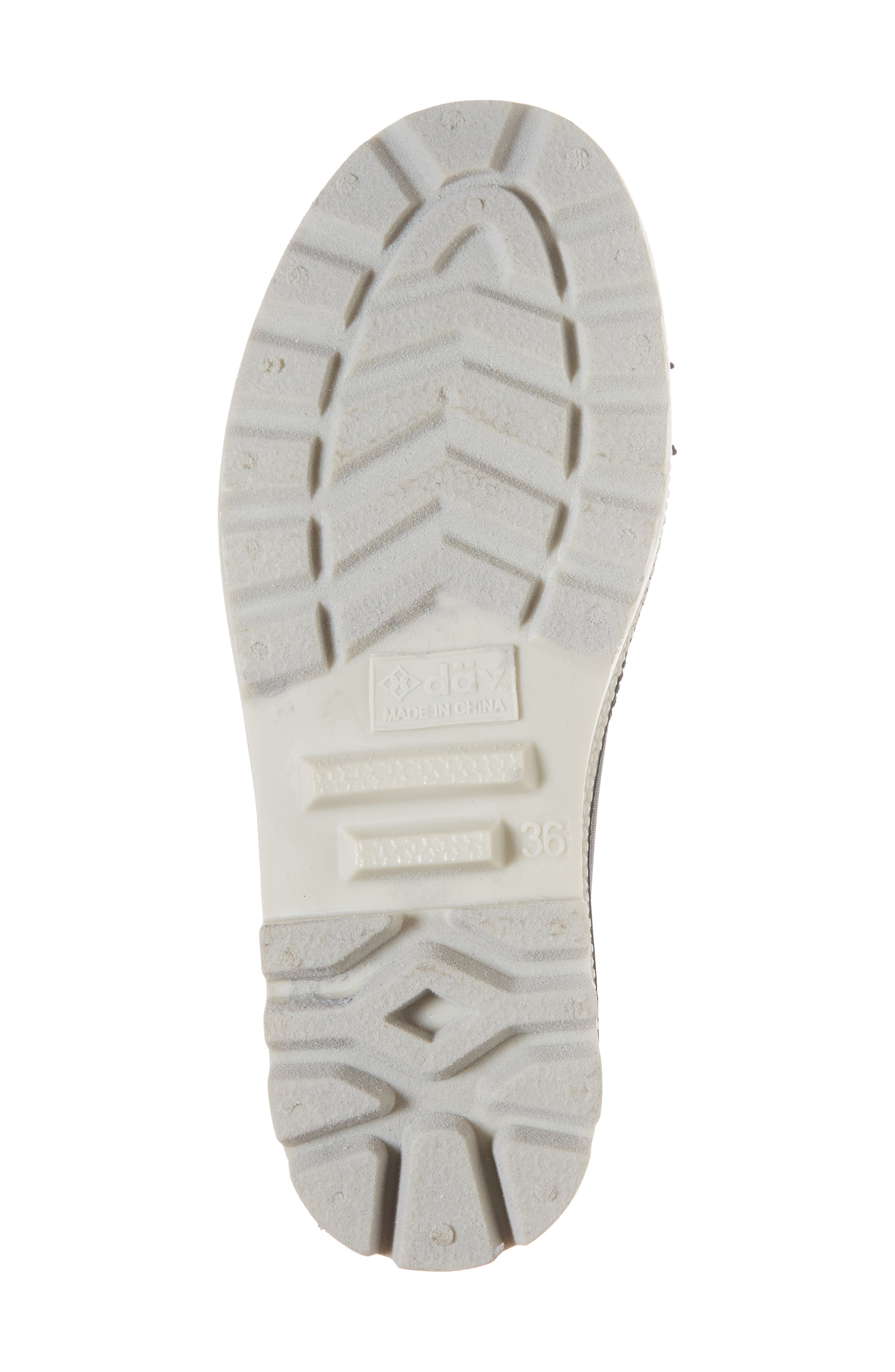DÄV, Melrose Waterproof Sneaker Boot, Alternate thumbnail 6, color, 001