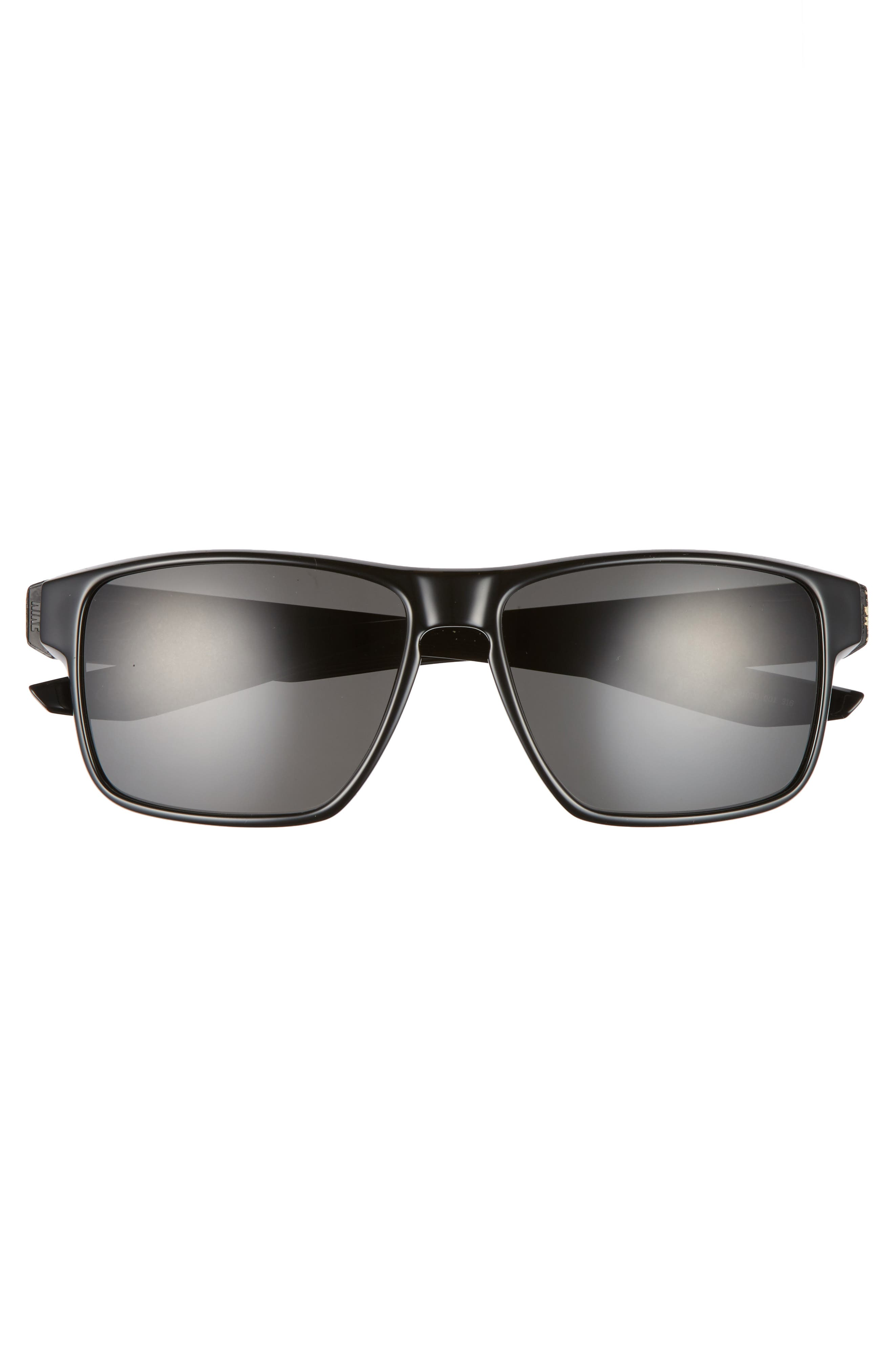 NIKE, Essential Venture 59mm Polarized Sport Sunglasses, Alternate thumbnail 2, color, MATTE BLACK