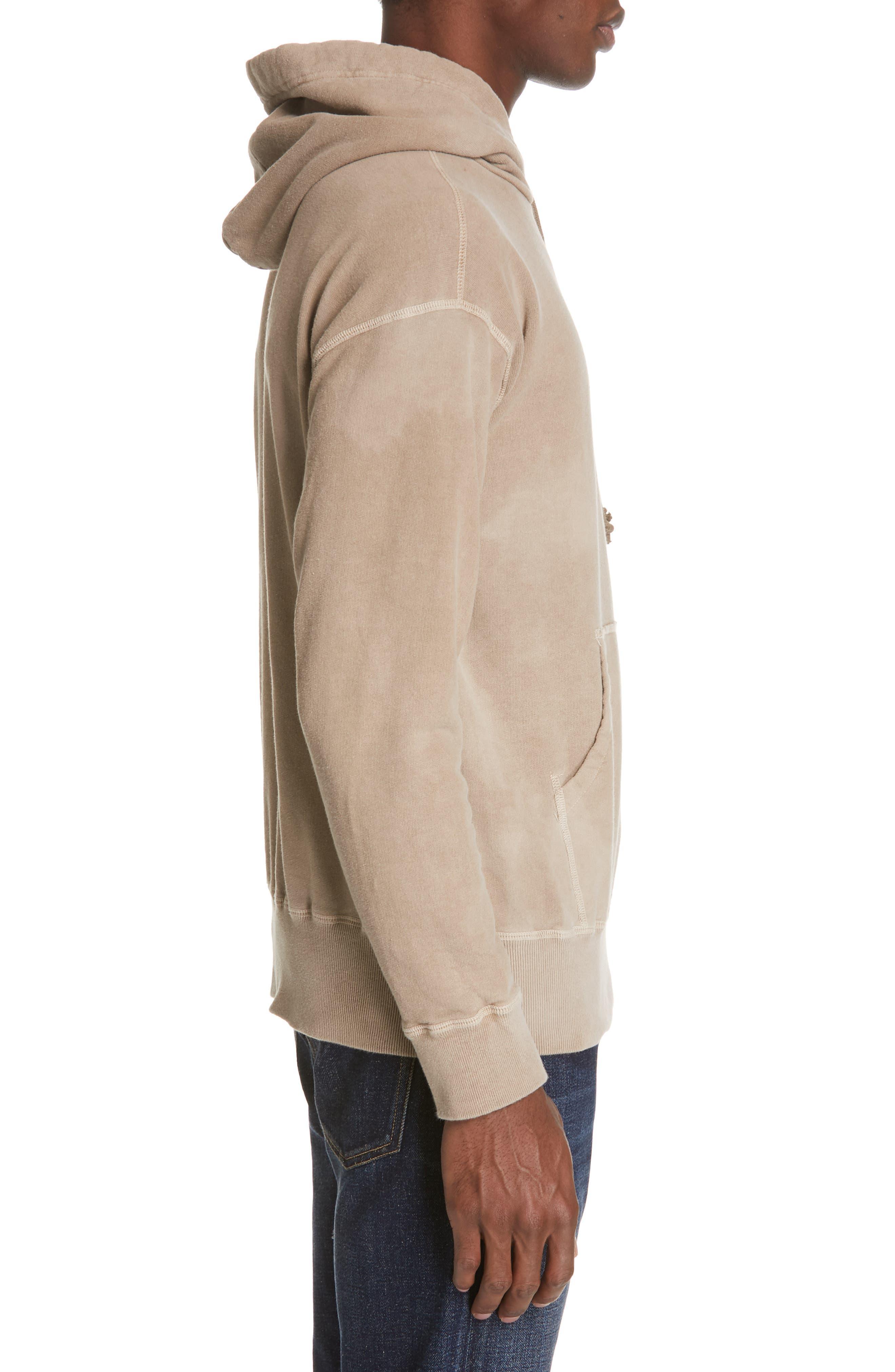 JOHN ELLIOTT, x Nordstrom Chrome Pullover Hoodie, Alternate thumbnail 3, color, MARBLED DUNE