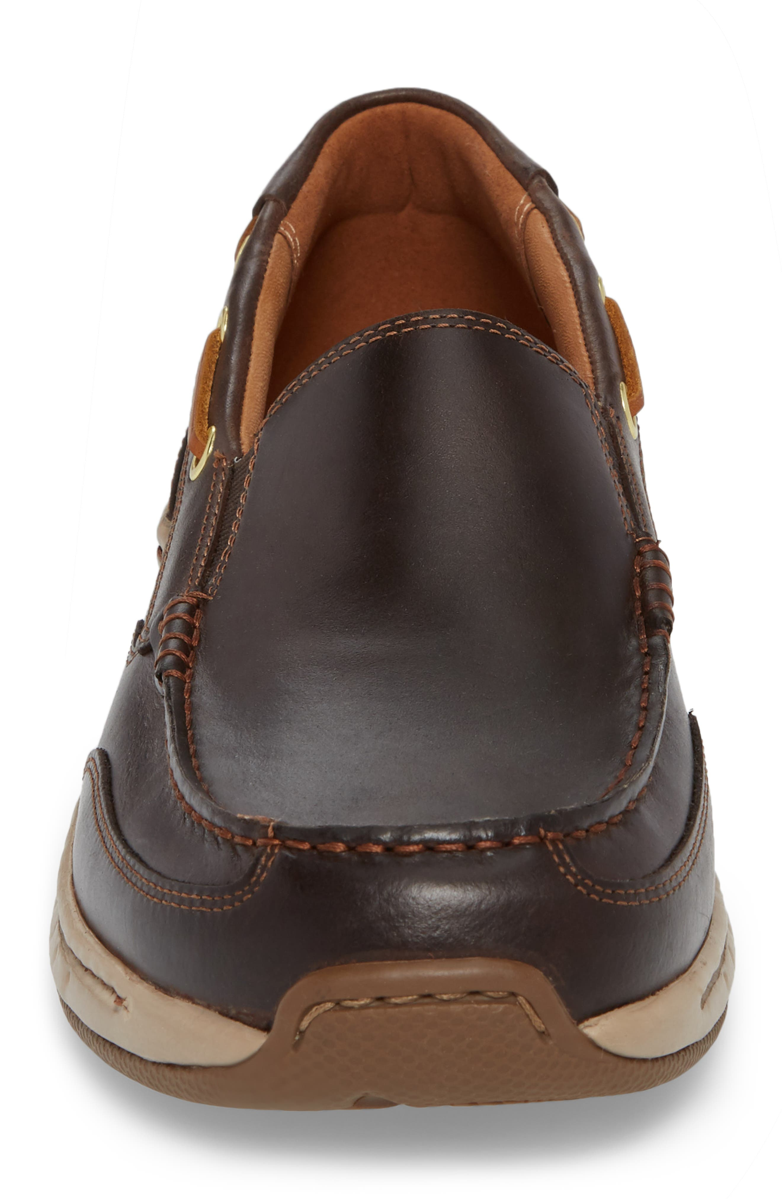 DUNHAM, Waterford Water Resistant Slip-On, Alternate thumbnail 4, color, TAN LEATHER