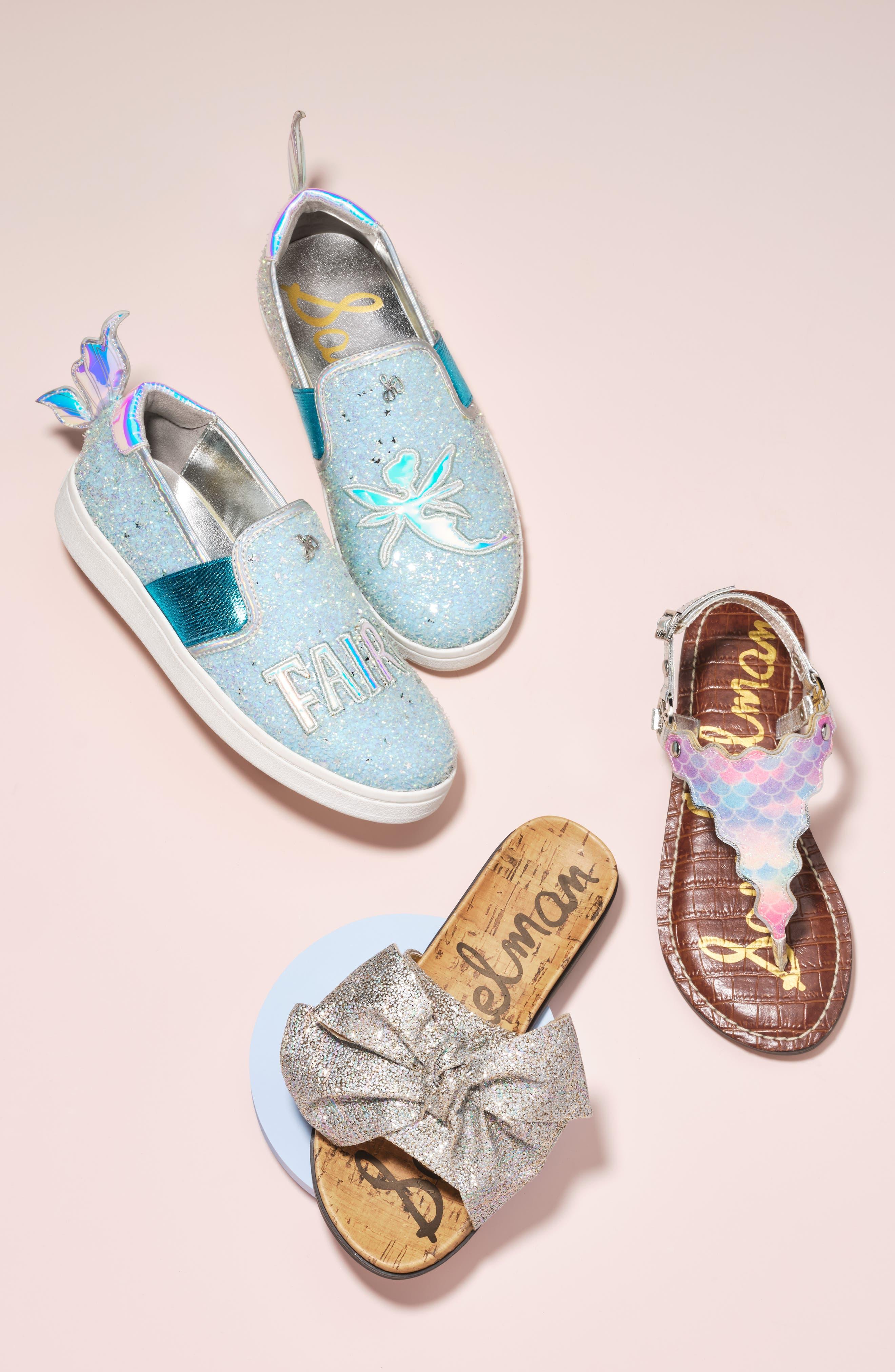SAM EDELMAN, Blake Lina Fairy Glitter Slip-On Sneaker, Alternate thumbnail 10, color, PINK/ PURPLE