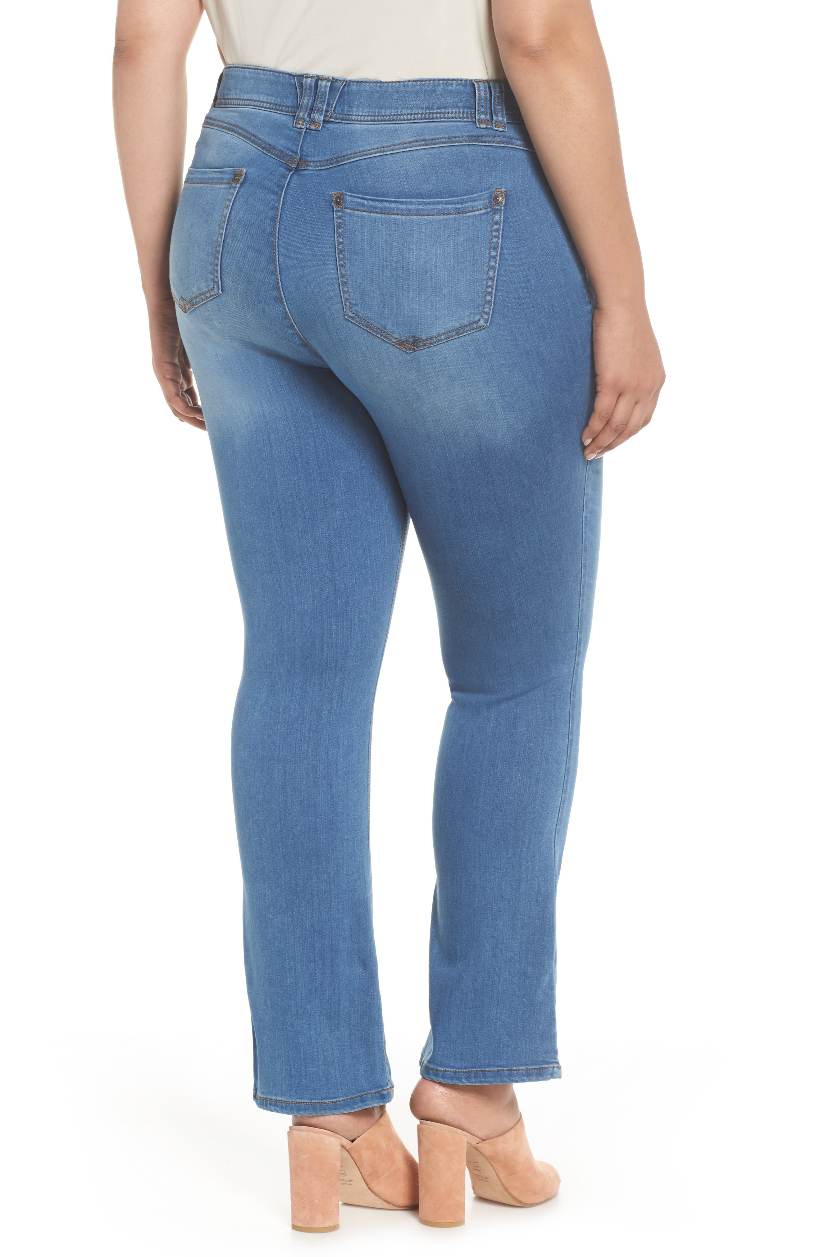WIT & WISDOM, Ab-solution Luxe Touch Bootcut Jeans, Alternate thumbnail 2, color, LIGHT BLUE