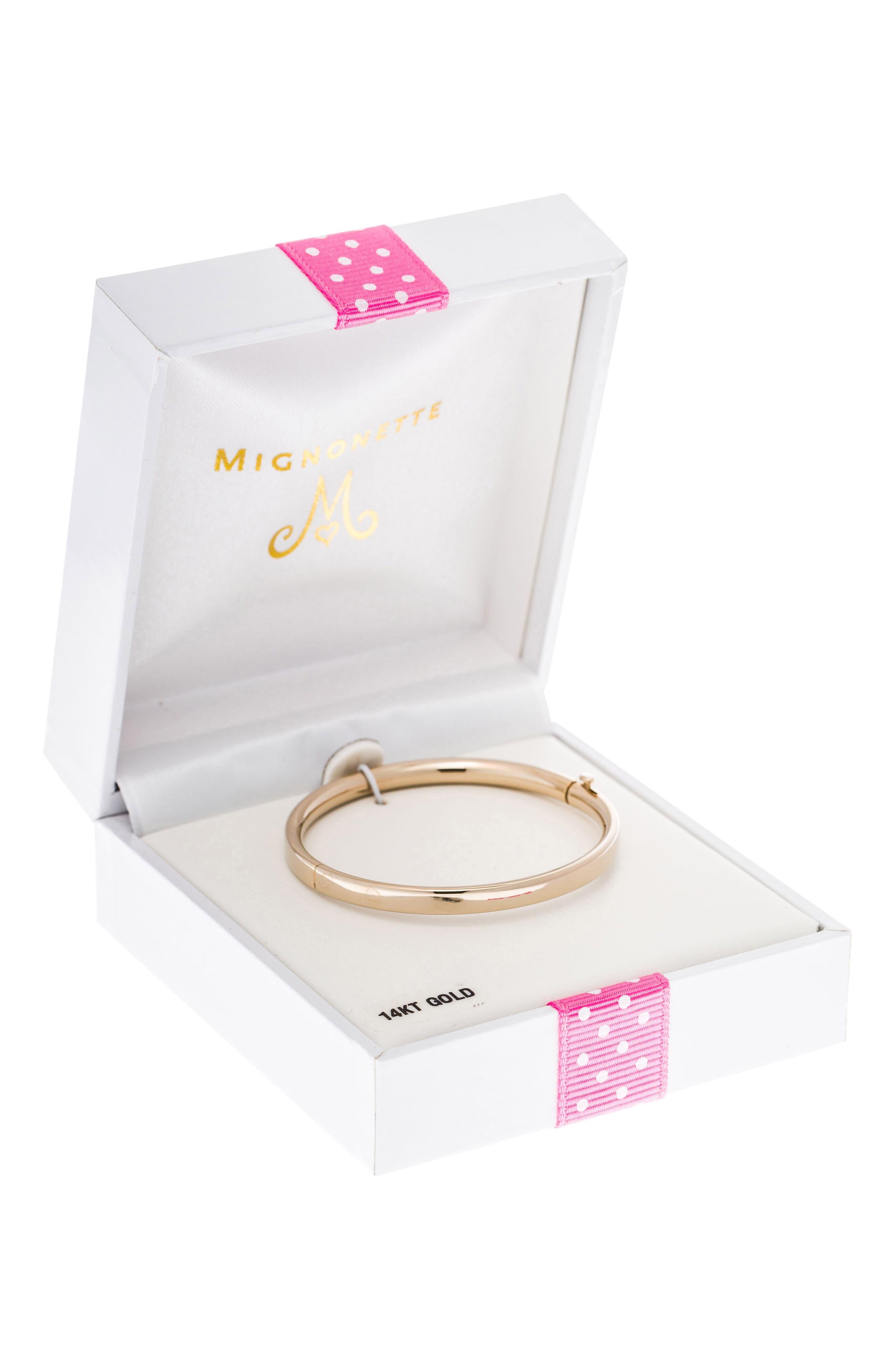 MIGNONETTE, 14k Gold Bracelet, Alternate thumbnail 3, color, GOLD