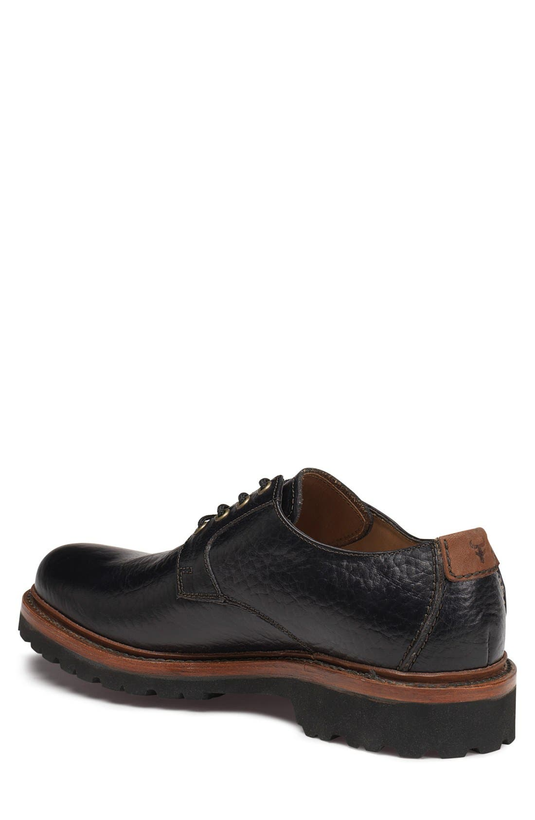 TRASK, 'Gallatin II' Oxford, Alternate thumbnail 4, color, BLACK LEATHER