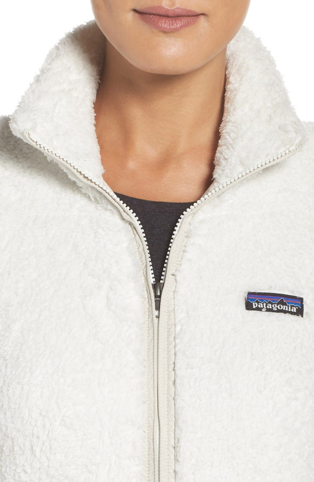 PATAGONIA, Los Gatos Fleece Jacket, Alternate thumbnail 4, color, BIRCH WHITE