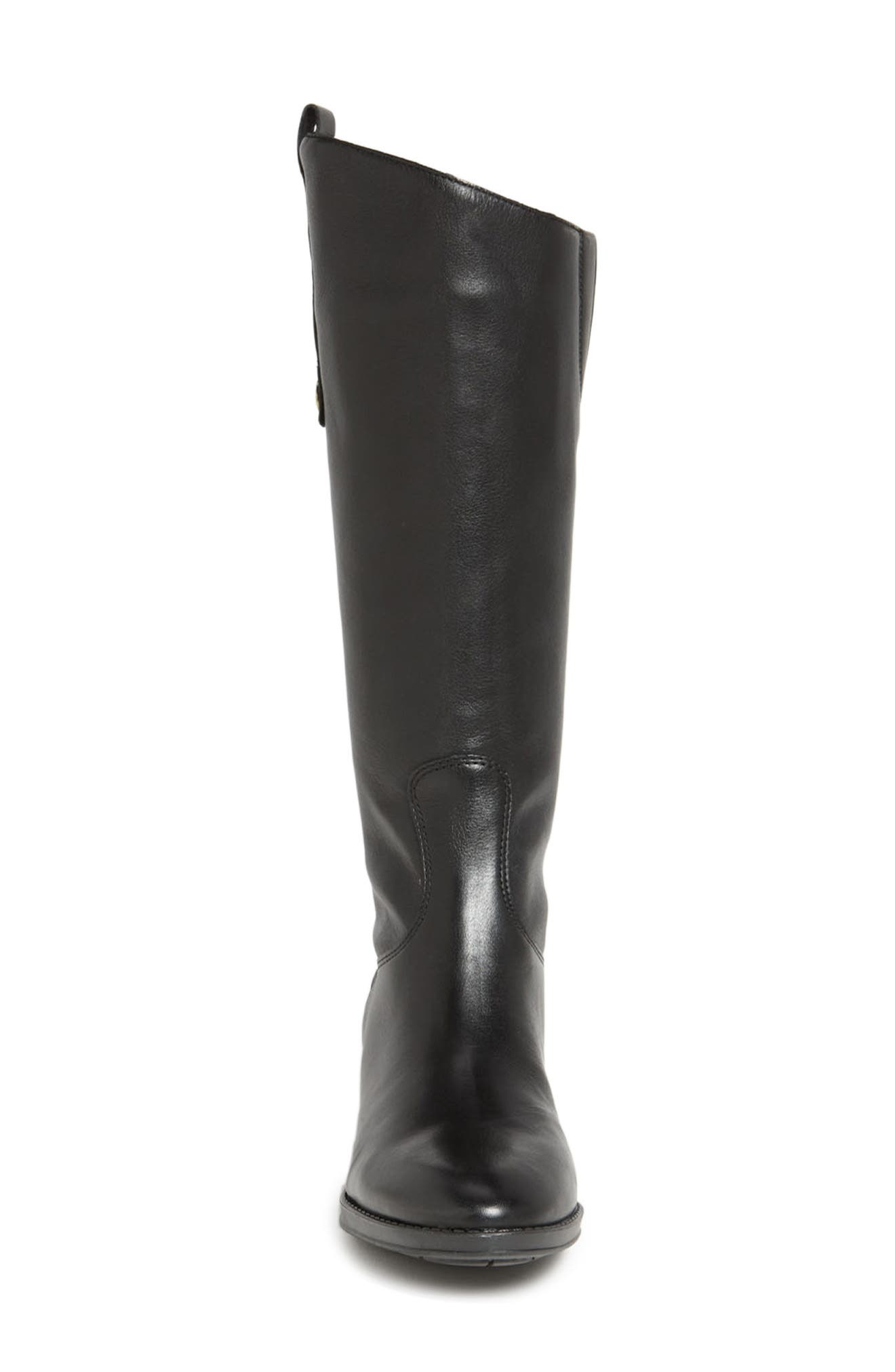 SAM EDELMAN, Penny Boot, Alternate thumbnail 3, color, BLACK WIDE CALF