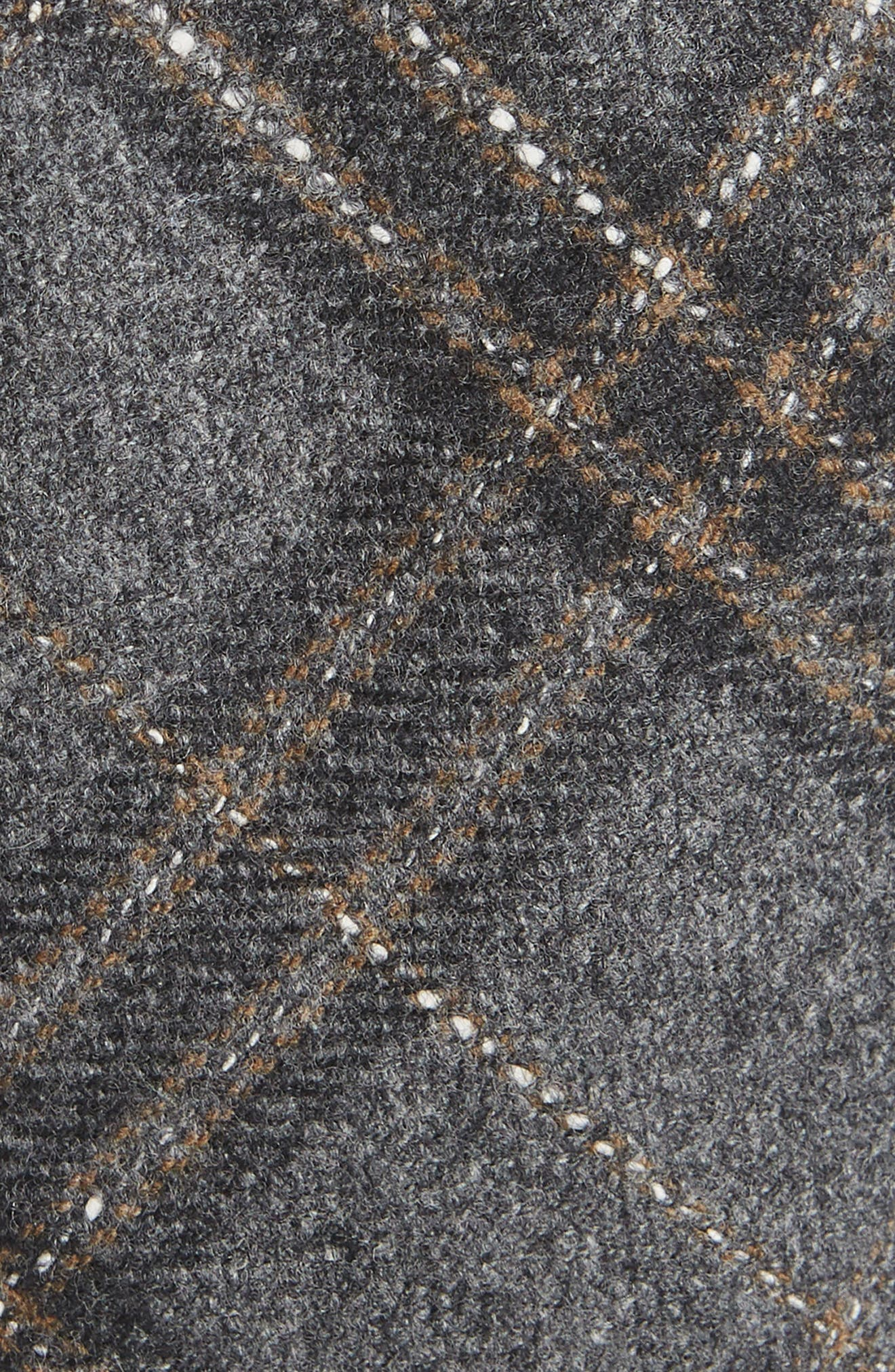 THE TIE BAR, Sotto Plaid Wool Blend Tie, Alternate thumbnail 2, color, GREY