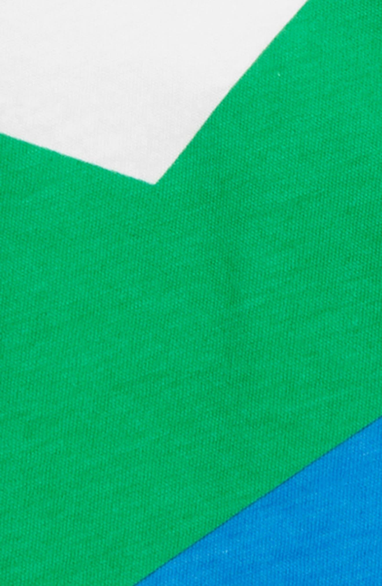 NUNUNU, Colorful Star T-Shirt, Alternate thumbnail 2, color, WHITE/ GREEN