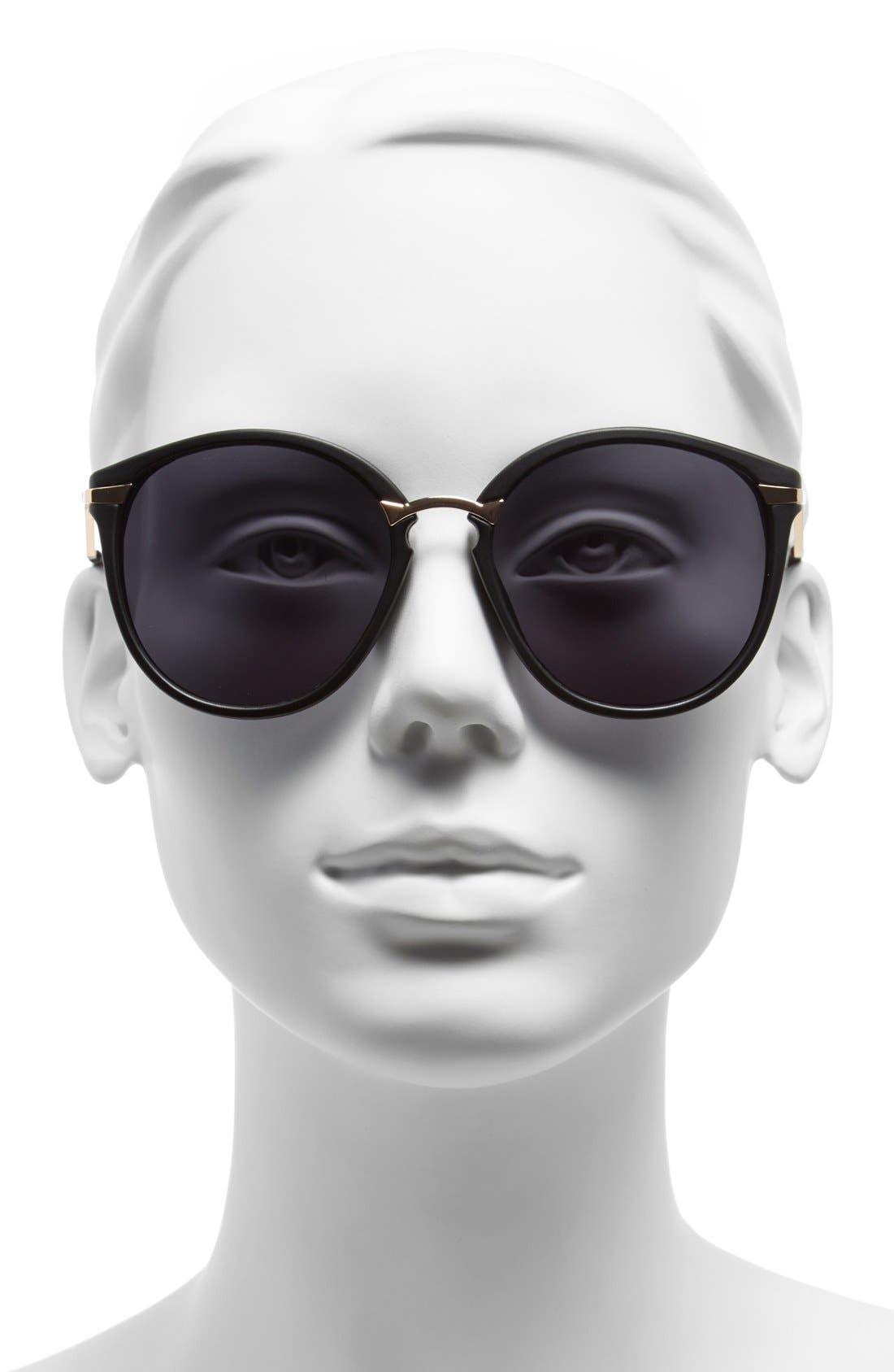 A.J. MORGAN, 'Sinclair' 54mm Sunglasses, Alternate thumbnail 2, color, 001