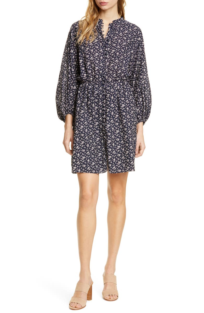 Joie Dresses Galani Long Balloon Sleeve Cotton Blend Dress
