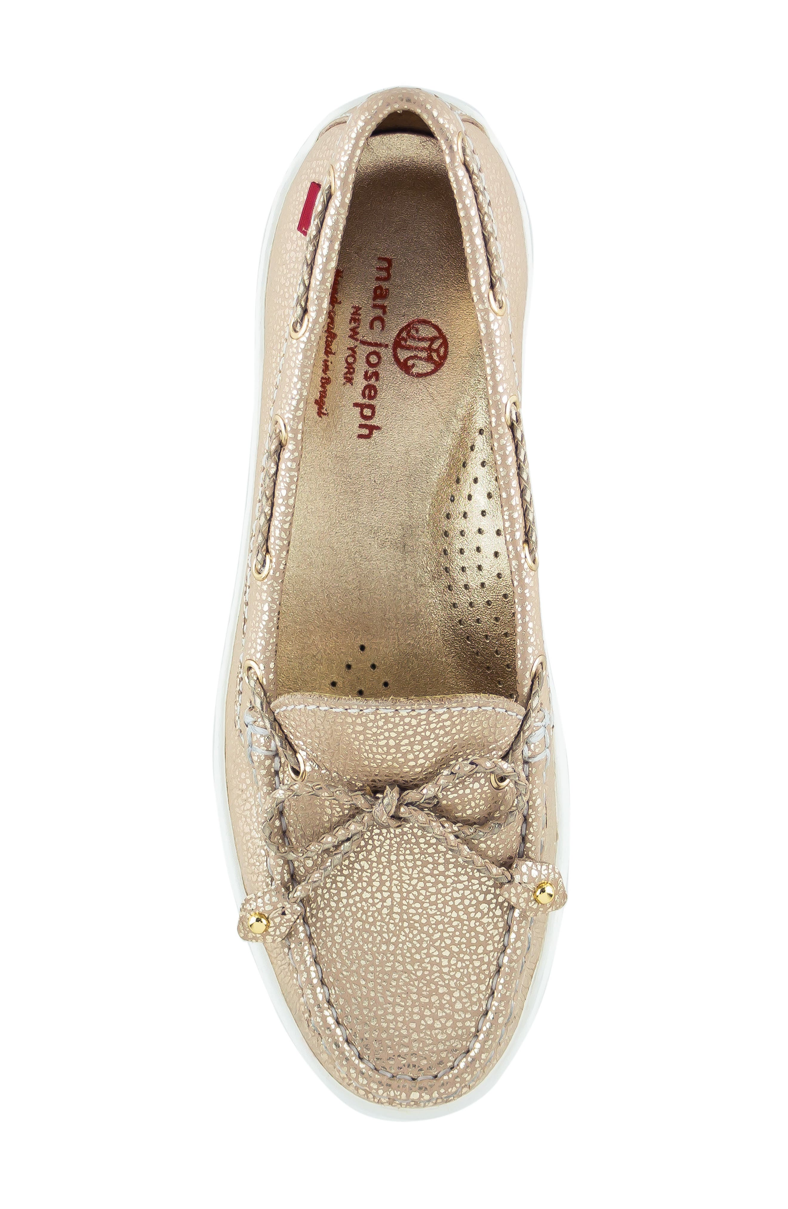 MARC JOSEPH NEW YORK, Pacific Loafer, Alternate thumbnail 5, color, GOLD LEATHER