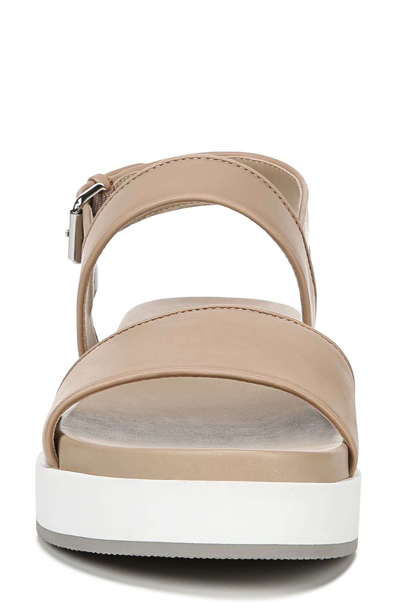 VIA SPIGA, Davi Platform Sandal, Alternate thumbnail 4, color, DESERT NAPPA