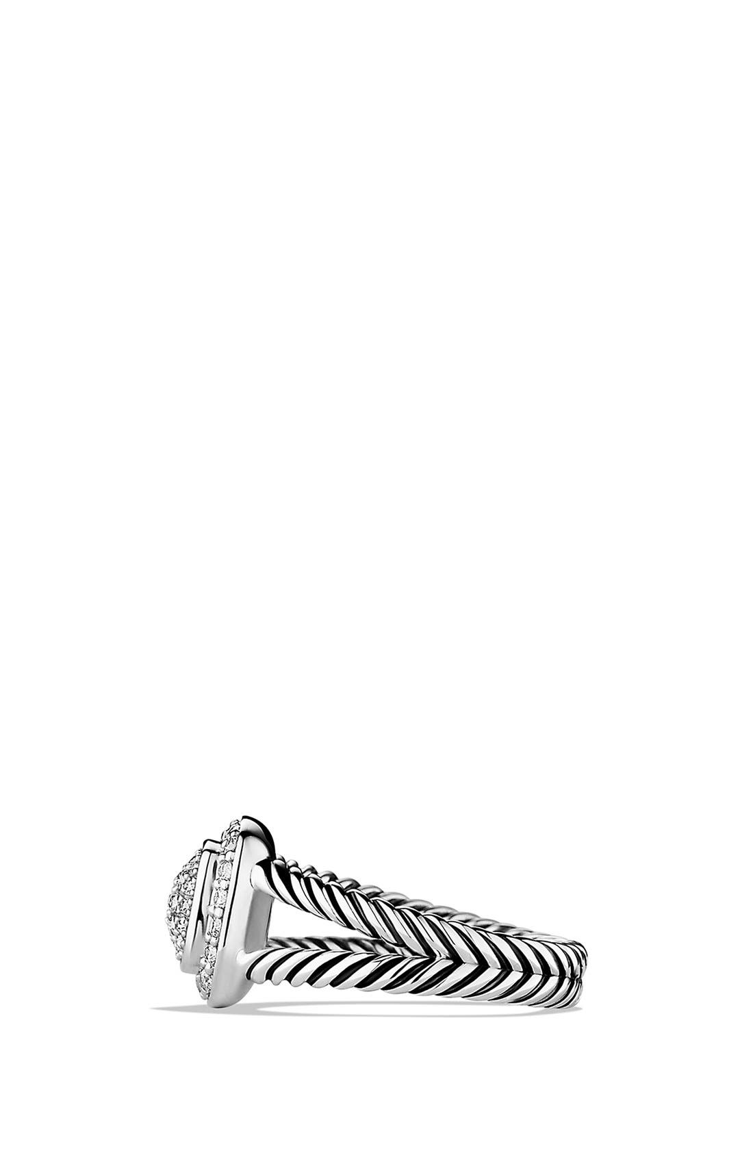 DAVID YURMAN, 'Albion' Petite Ring with Diamonds, Alternate thumbnail 4, color, DIAMOND