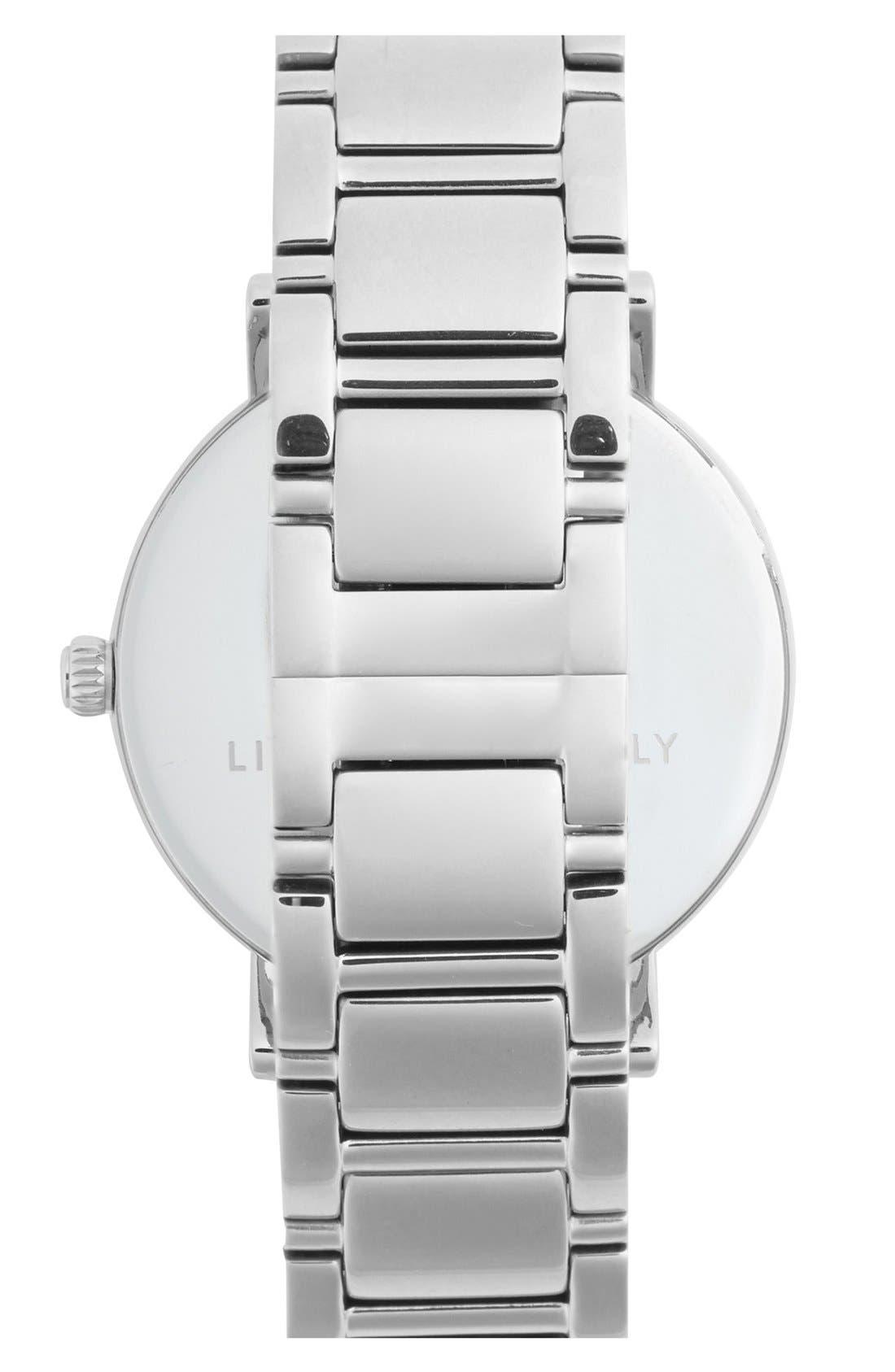 KATE SPADE NEW YORK, 'gramercy grand' bracelet watch, 38mm, Alternate thumbnail 3, color, 040