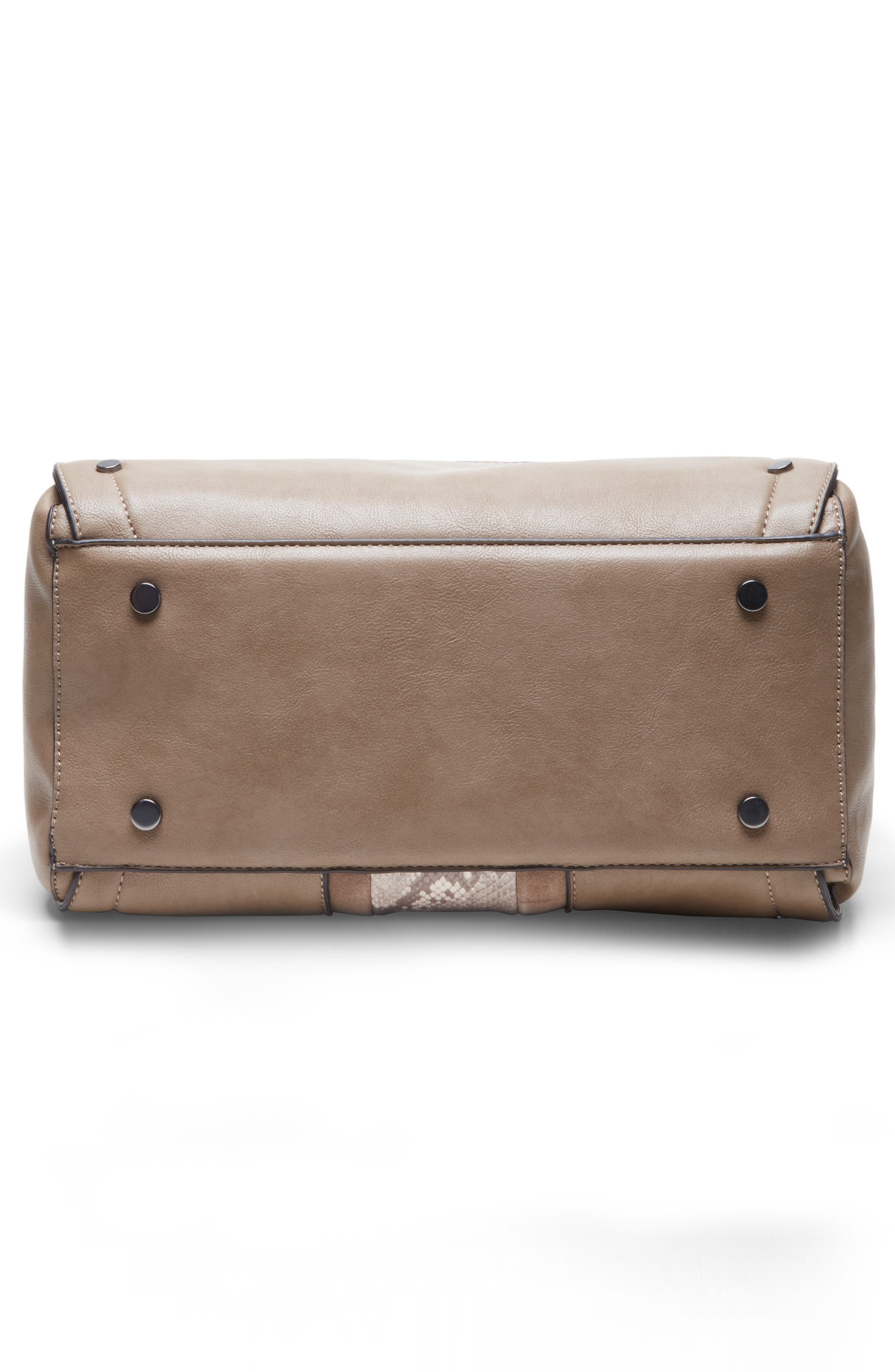 SOLE SOCIETY, Ragna Satchel, Alternate thumbnail 5, color, MUSHROOM COMBO