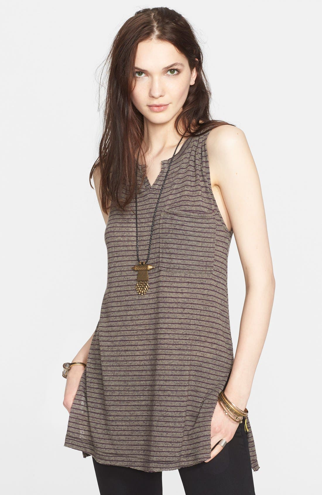 FREE PEOPLE, 'Weekend Warrior' Stripe Tank, Main thumbnail 1, color, 310