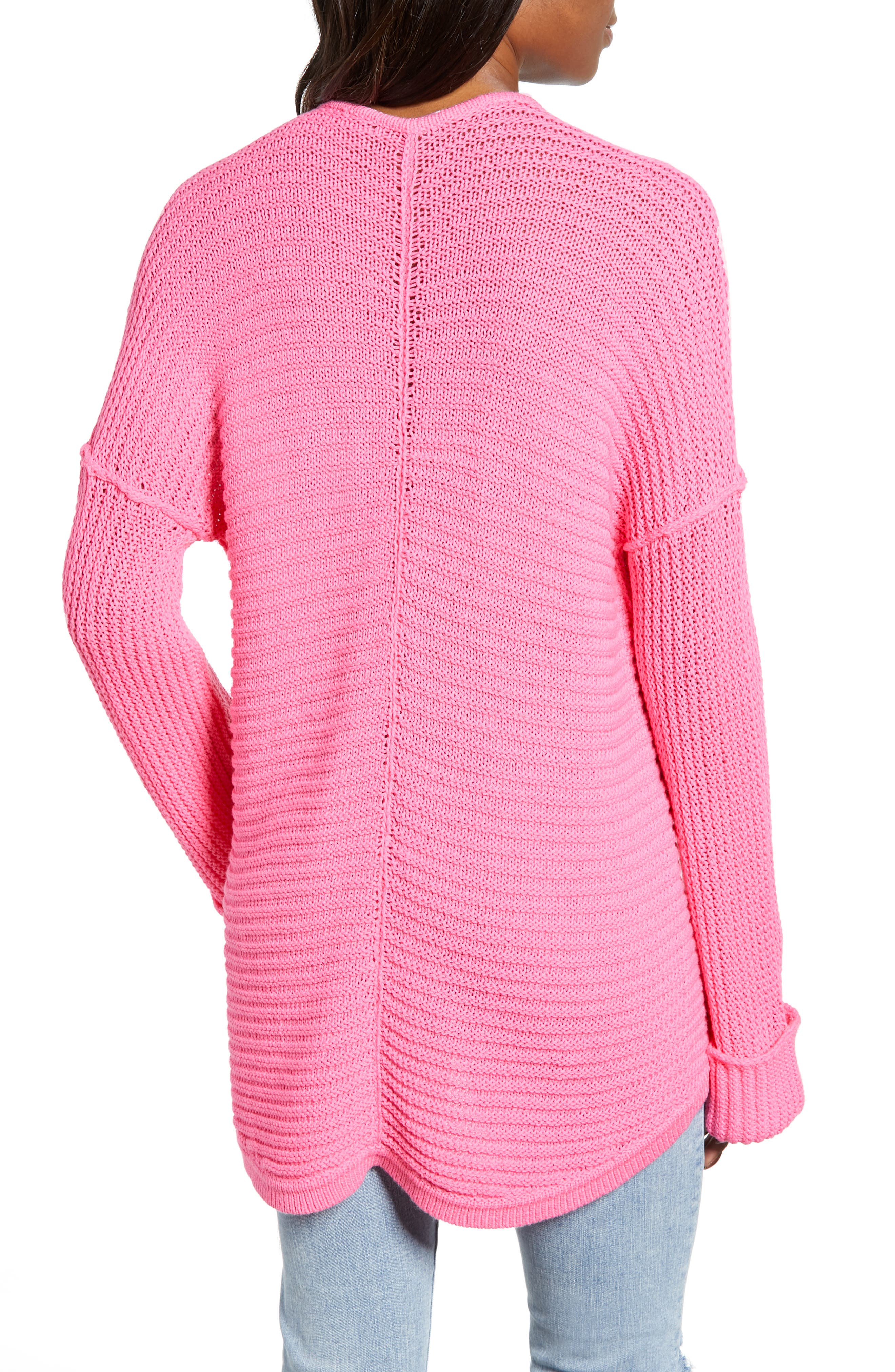 CASLON<SUP>®</SUP>, Cuffed Sleeve Sweater, Alternate thumbnail 2, color, PINK SACHET