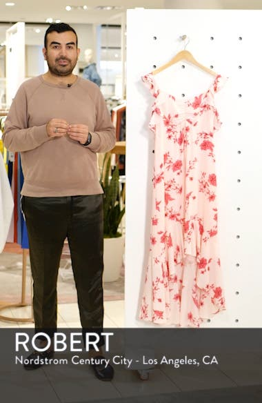 Etched Floral High/Low Midi Dress, sales video thumbnail