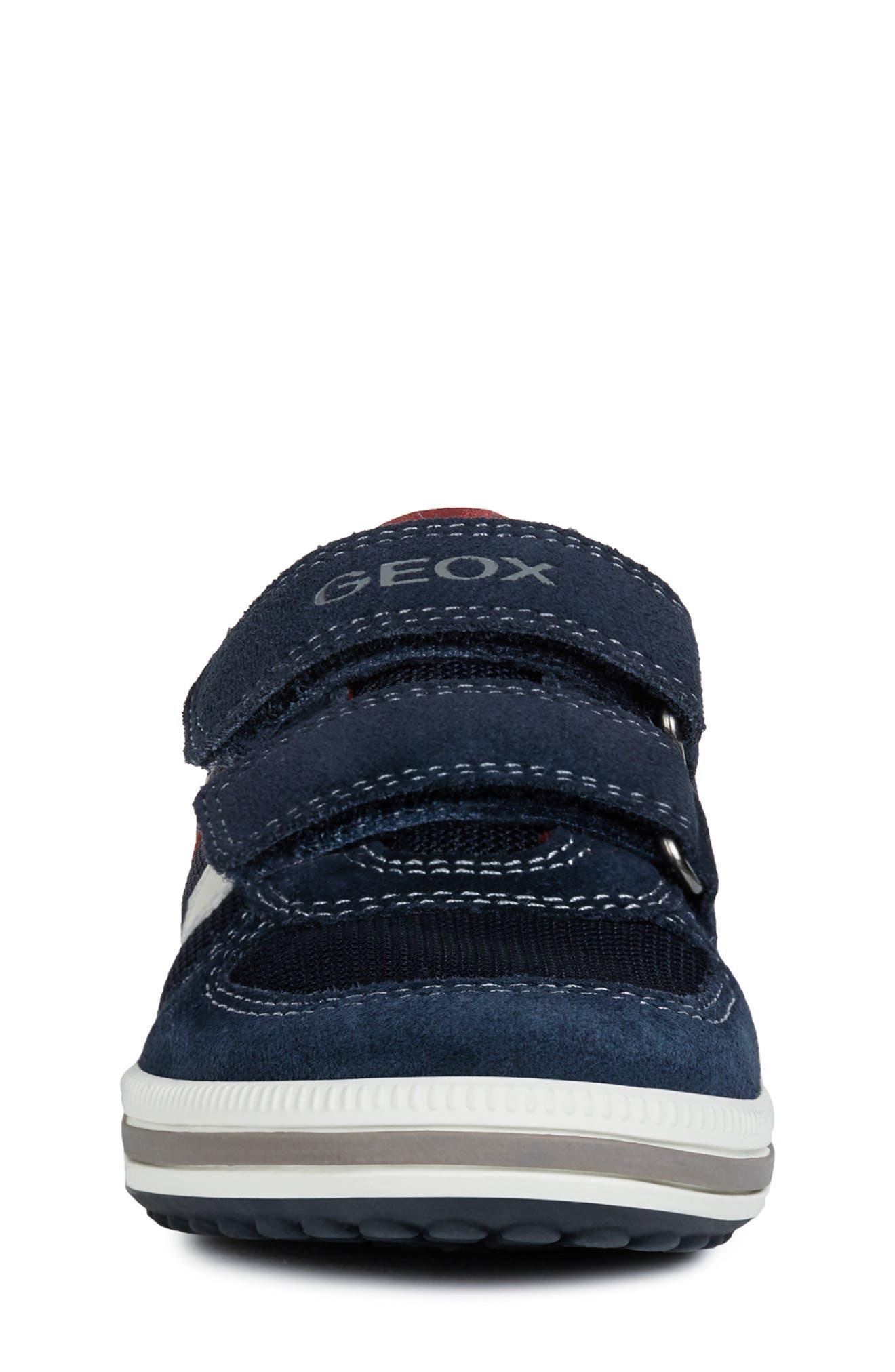 GEOX, 'Vita' Sneaker, Alternate thumbnail 4, color, NAVY/ RED