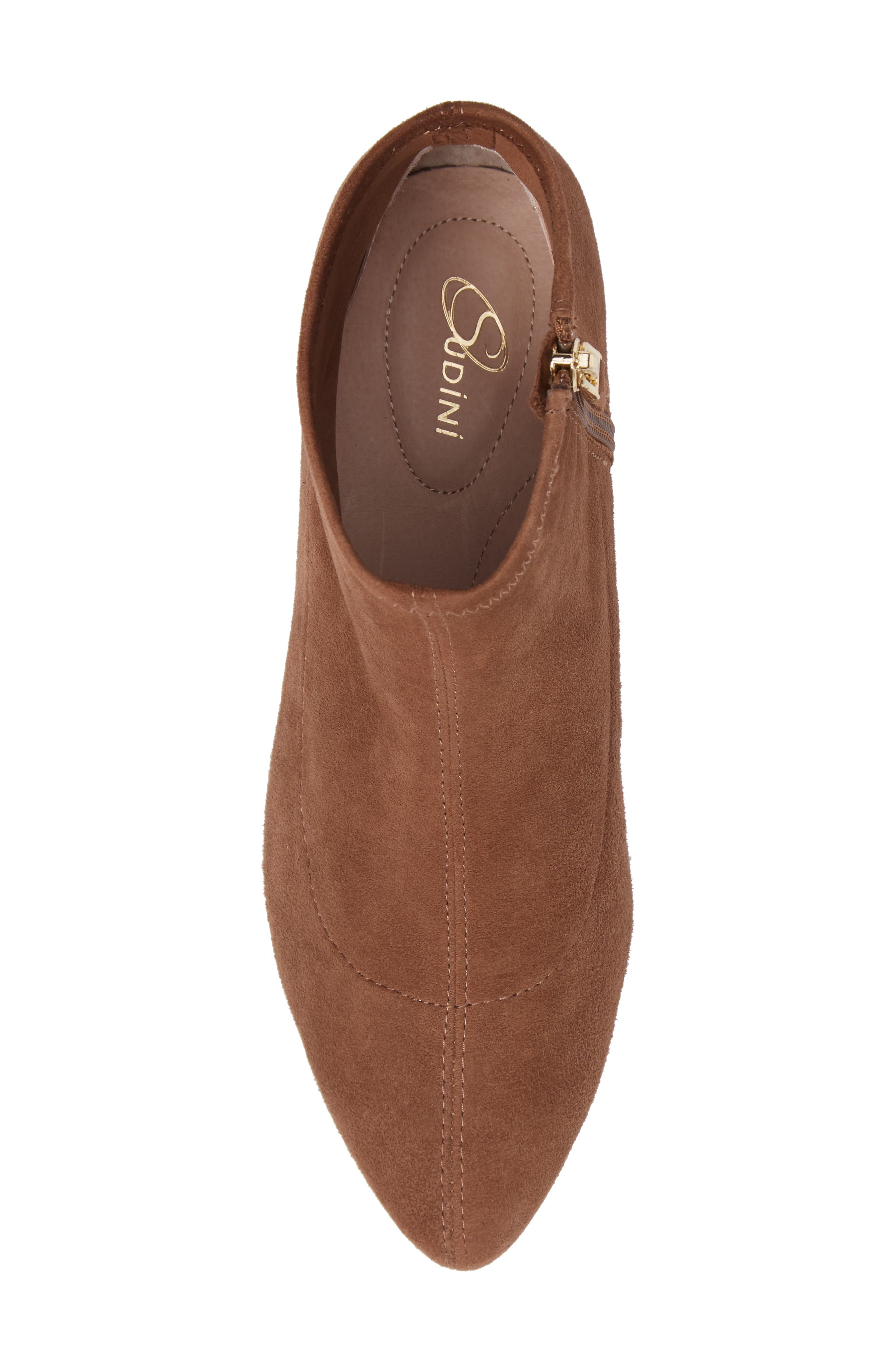 SUDINI, Aletta Bootie, Alternate thumbnail 5, color, TOBACCO SUEDE