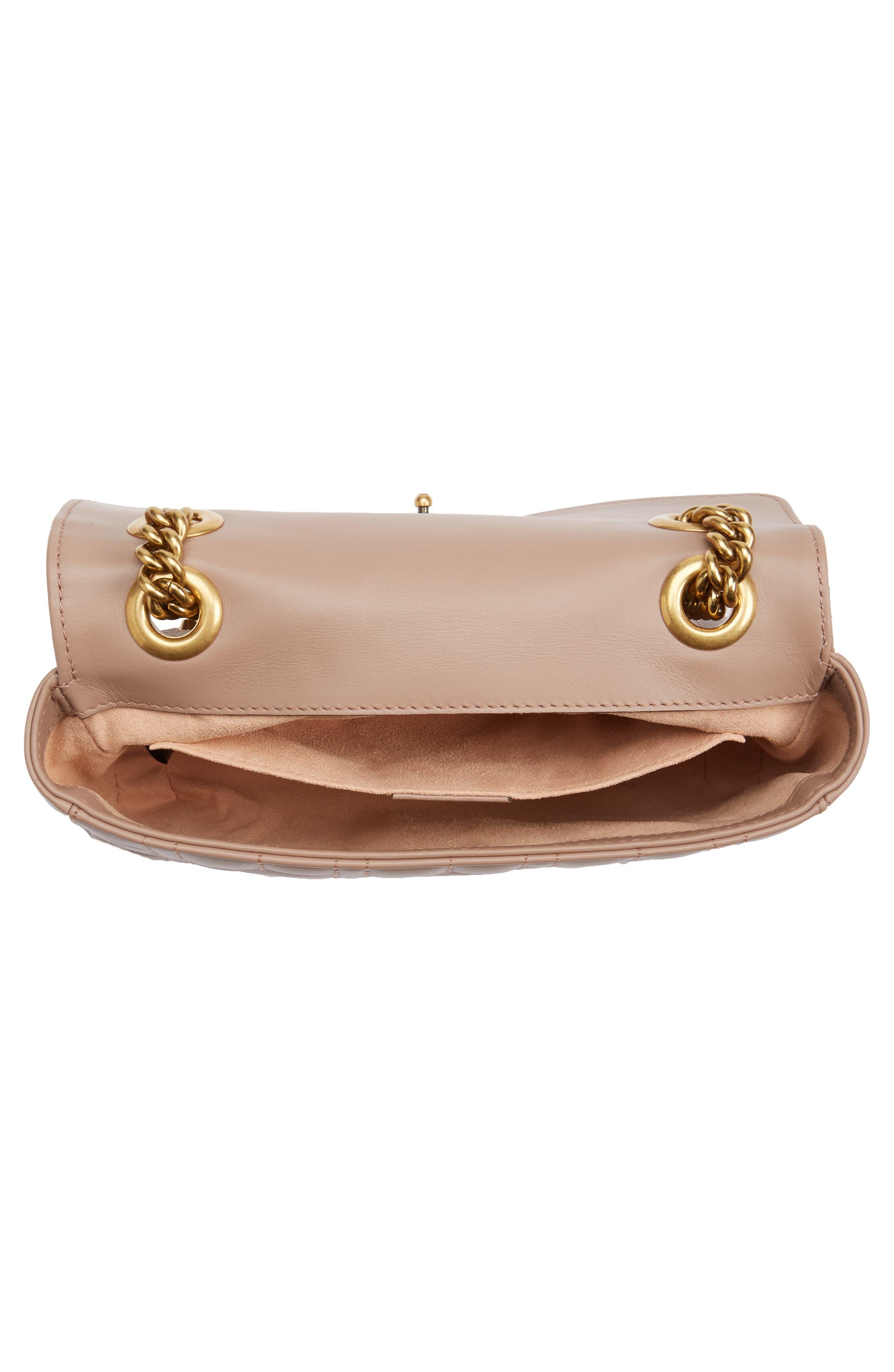 GUCCI, Mini GG Marmont 2.0 Imitation Pearl Logo Matelassé Leather Shoulder Bag, Alternate thumbnail 4, color, 651