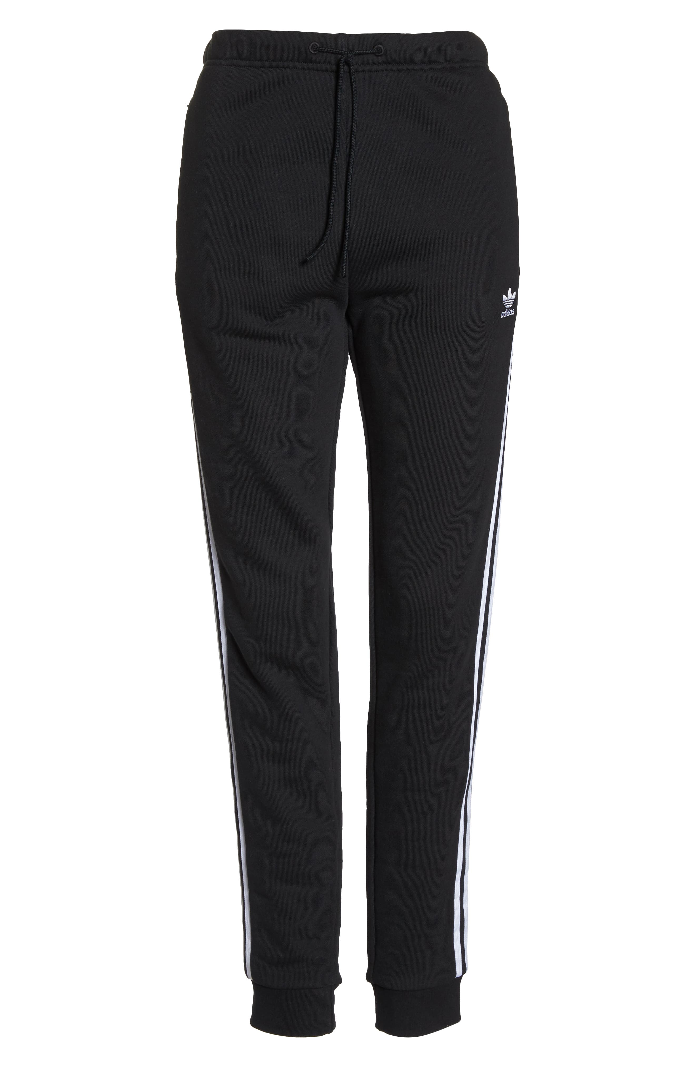 ADIDAS ORIGINALS, Cuffed Track Pants, Alternate thumbnail 7, color, BLACK