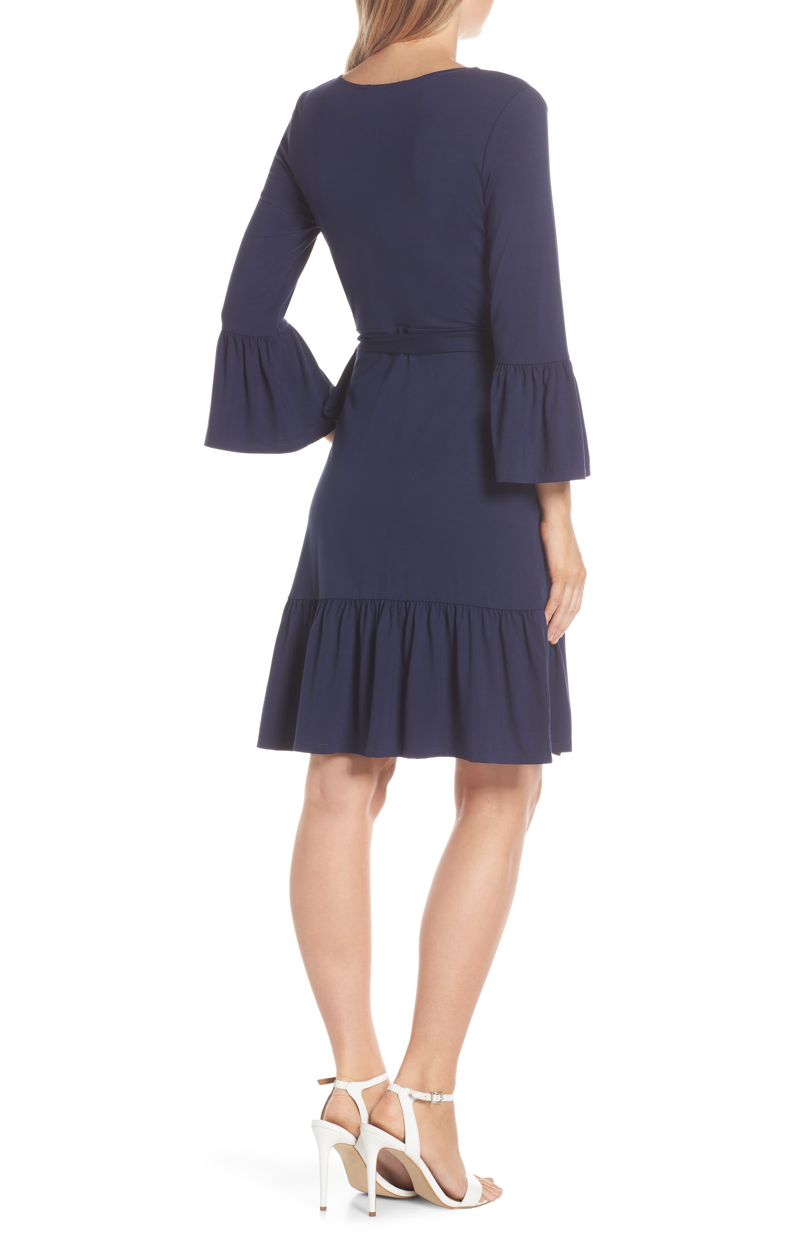 LILLY PULITZER<SUP>®</SUP>, Misha Wrap Dress, Alternate thumbnail 2, color, TRUE NAVY