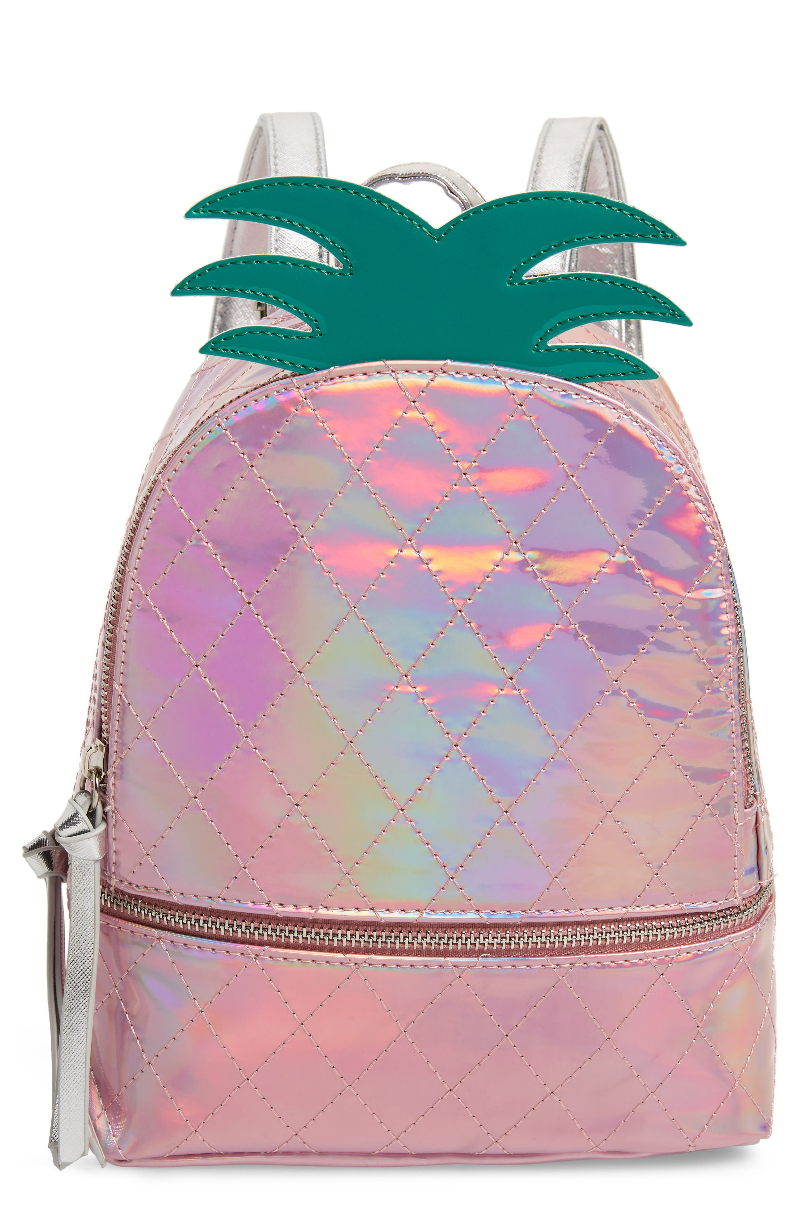 Girls Under One Sky Iridescent Pineapple Backpack  Pink