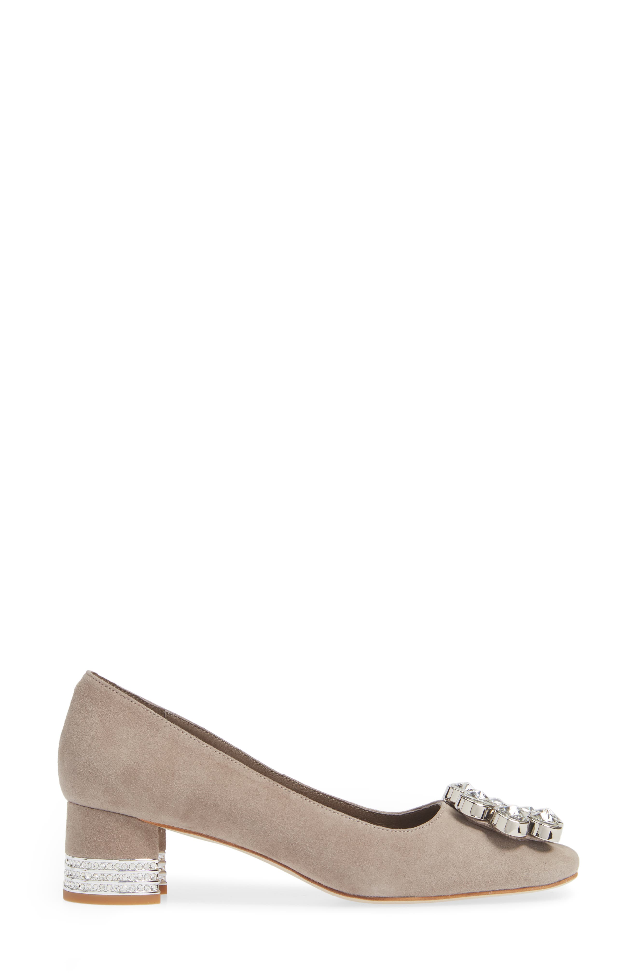 JEFFREY CAMPBELL, Carys Pump, Alternate thumbnail 3, color, TAUPE SUEDE