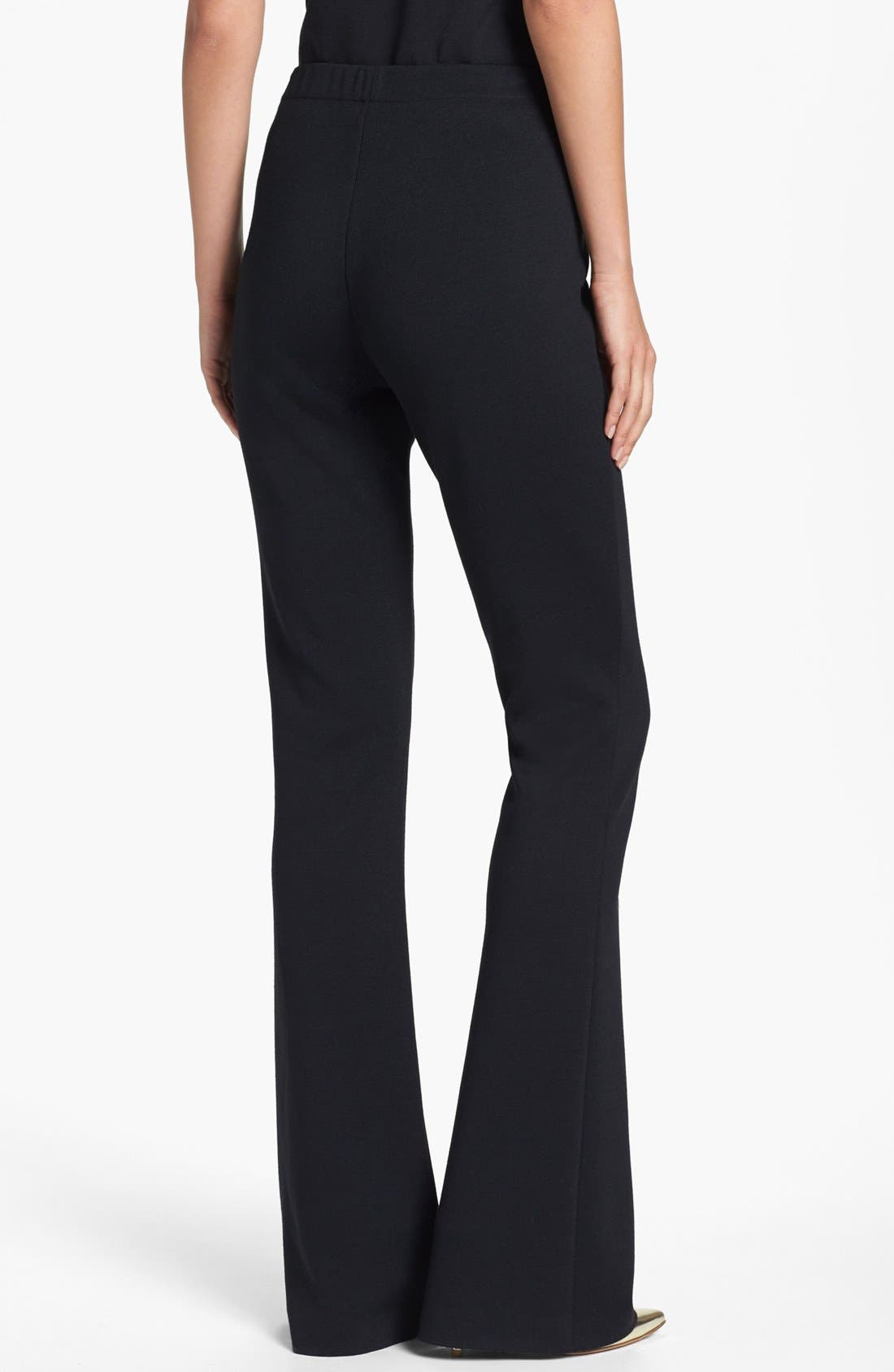 ST. JOHN COLLECTION, 'Kasia' Bootcut Milano Knit Pants, Alternate thumbnail 5, color, CAVIAR