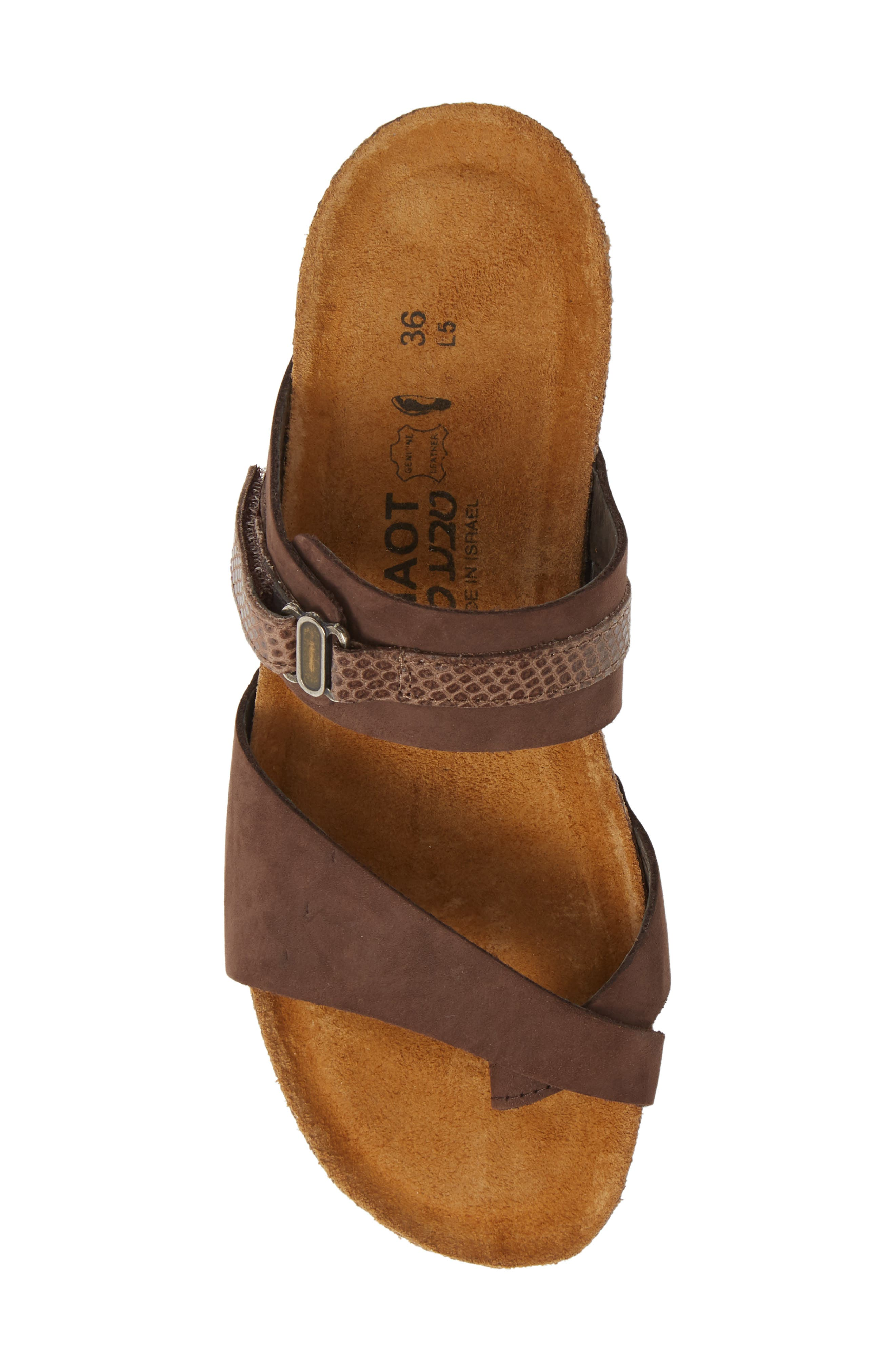NAOT, Jessica Sandal, Alternate thumbnail 5, color, COFFEE BEAN NUBUCK LEATHER