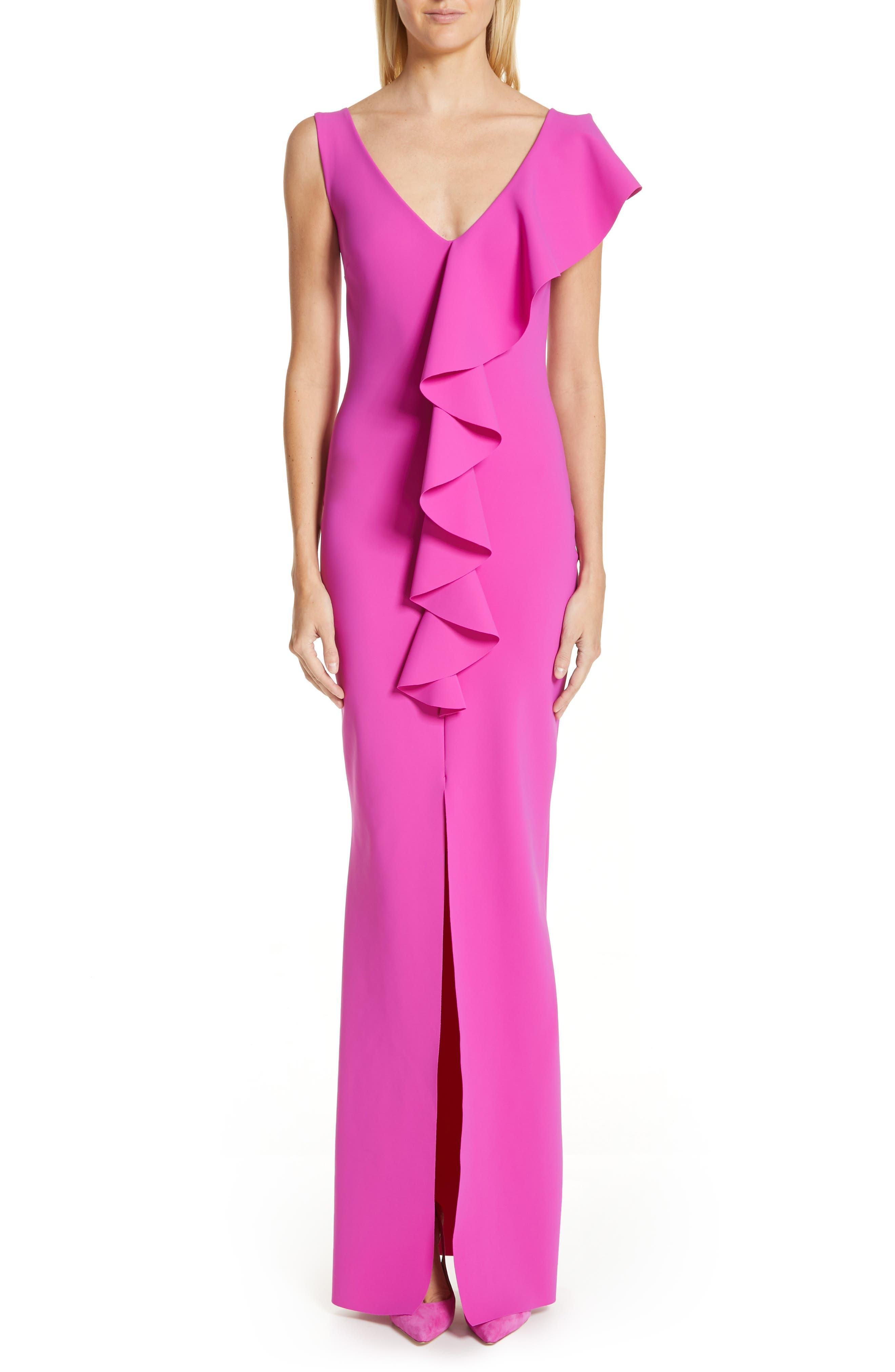 Chiara Boni La Petite Robe Boudicea Ruffle Evening Dress, US / 42 IT - Purple