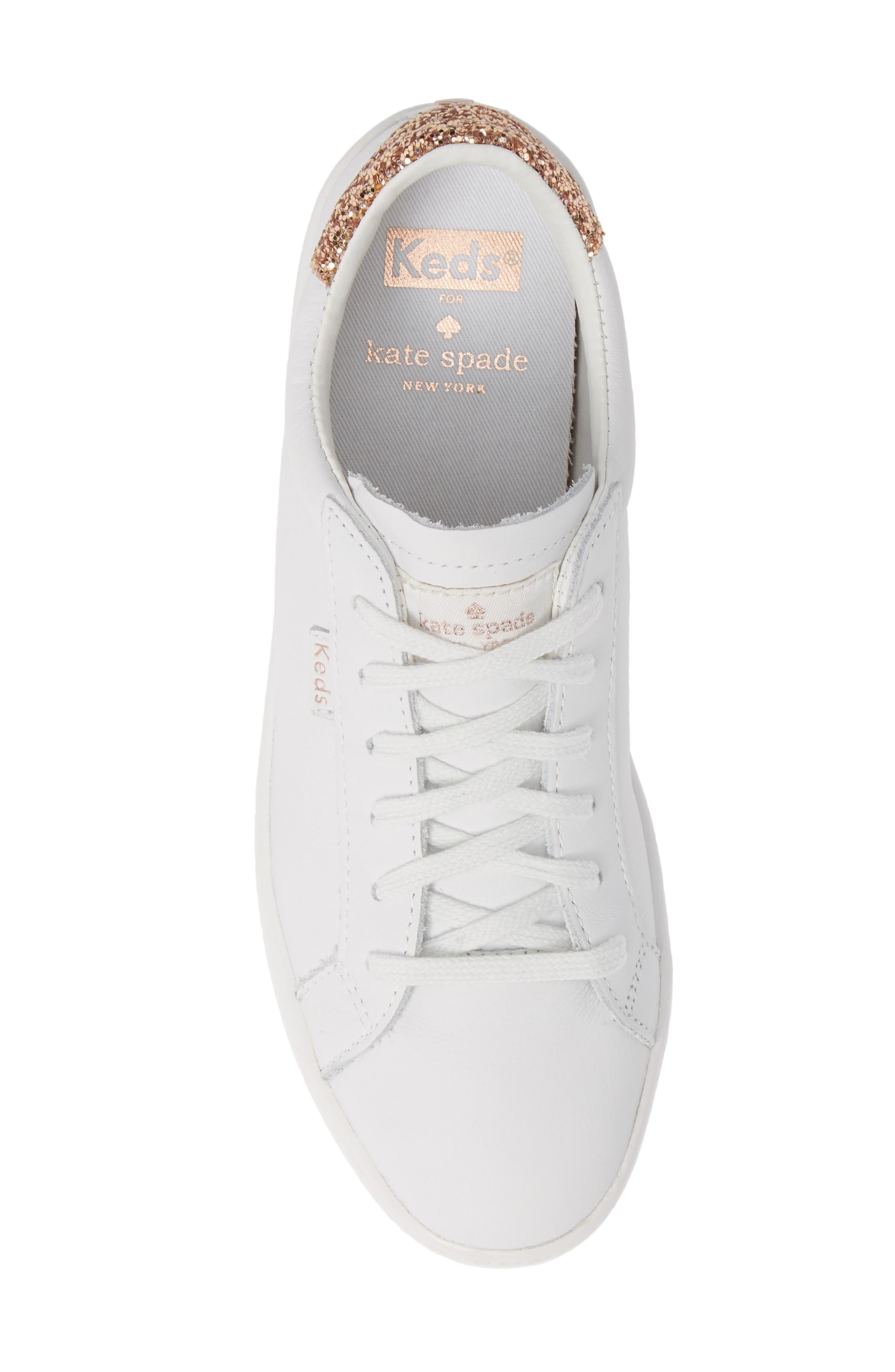 KEDS<SUP>®</SUP> FOR KATE SPADE NEW YORK, ace glitter sneaker, Alternate thumbnail 5, color, 100