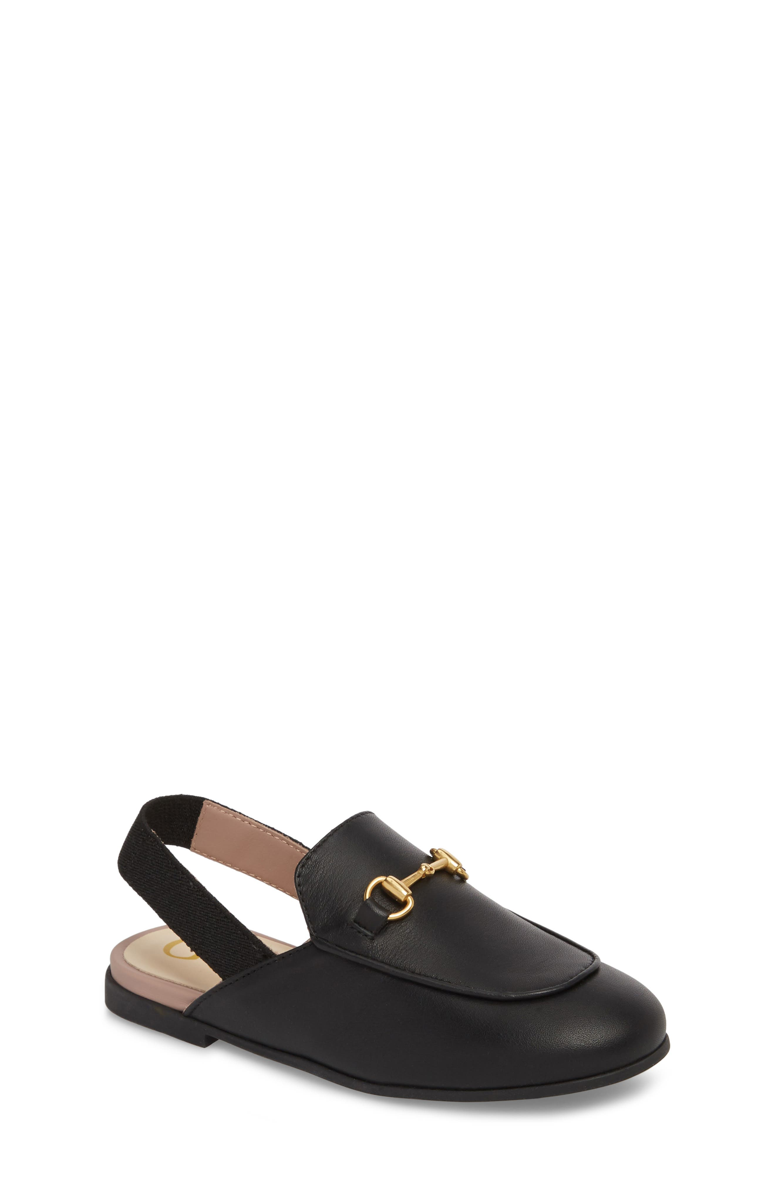 GUCCI, Princetown Loafer Mule, Main thumbnail 1, color, BLACK/ BLACK