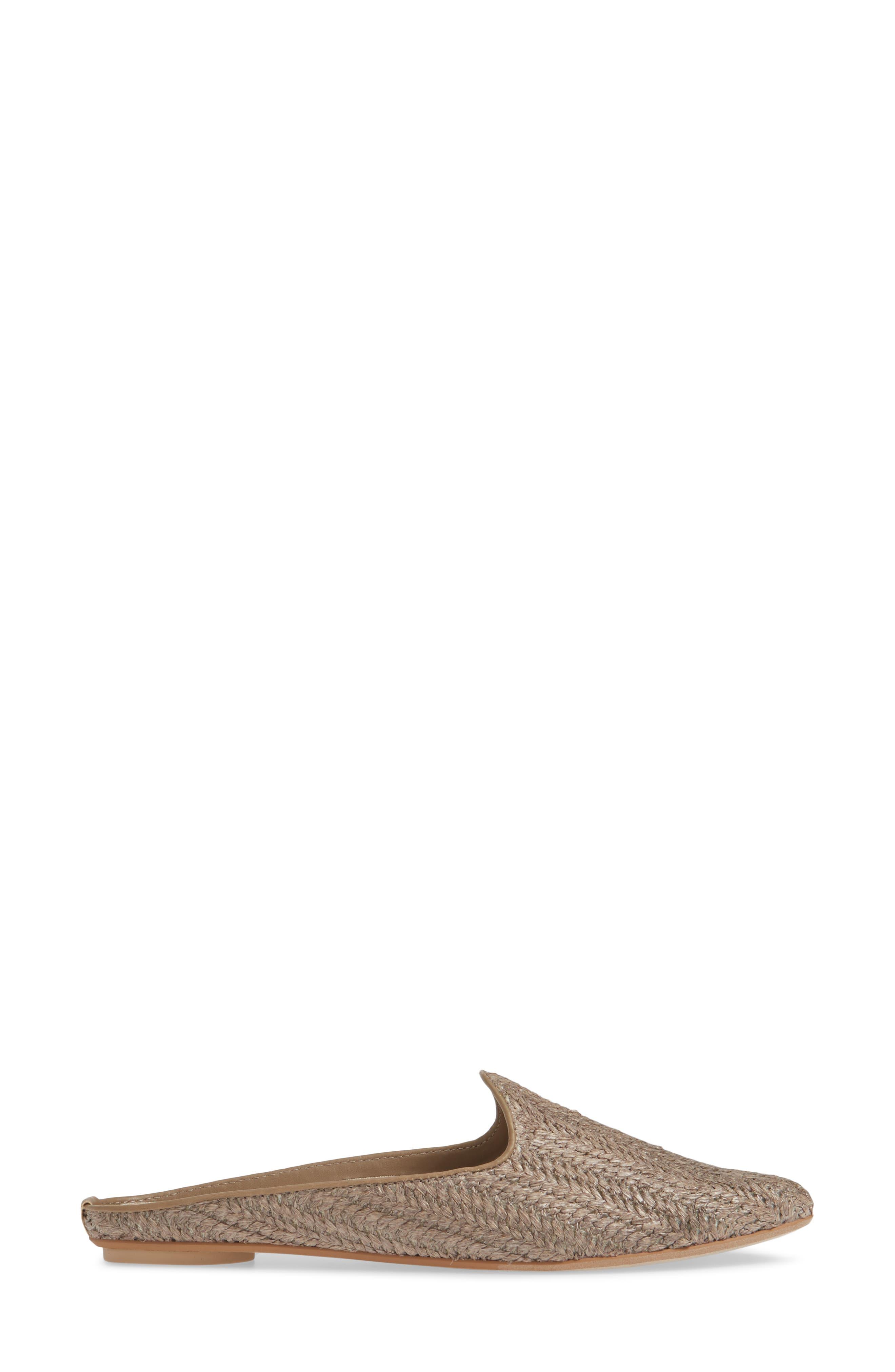 DOLCE VITA, Grant Woven Flat Mule, Alternate thumbnail 3, color, SMOKE RAFFIA