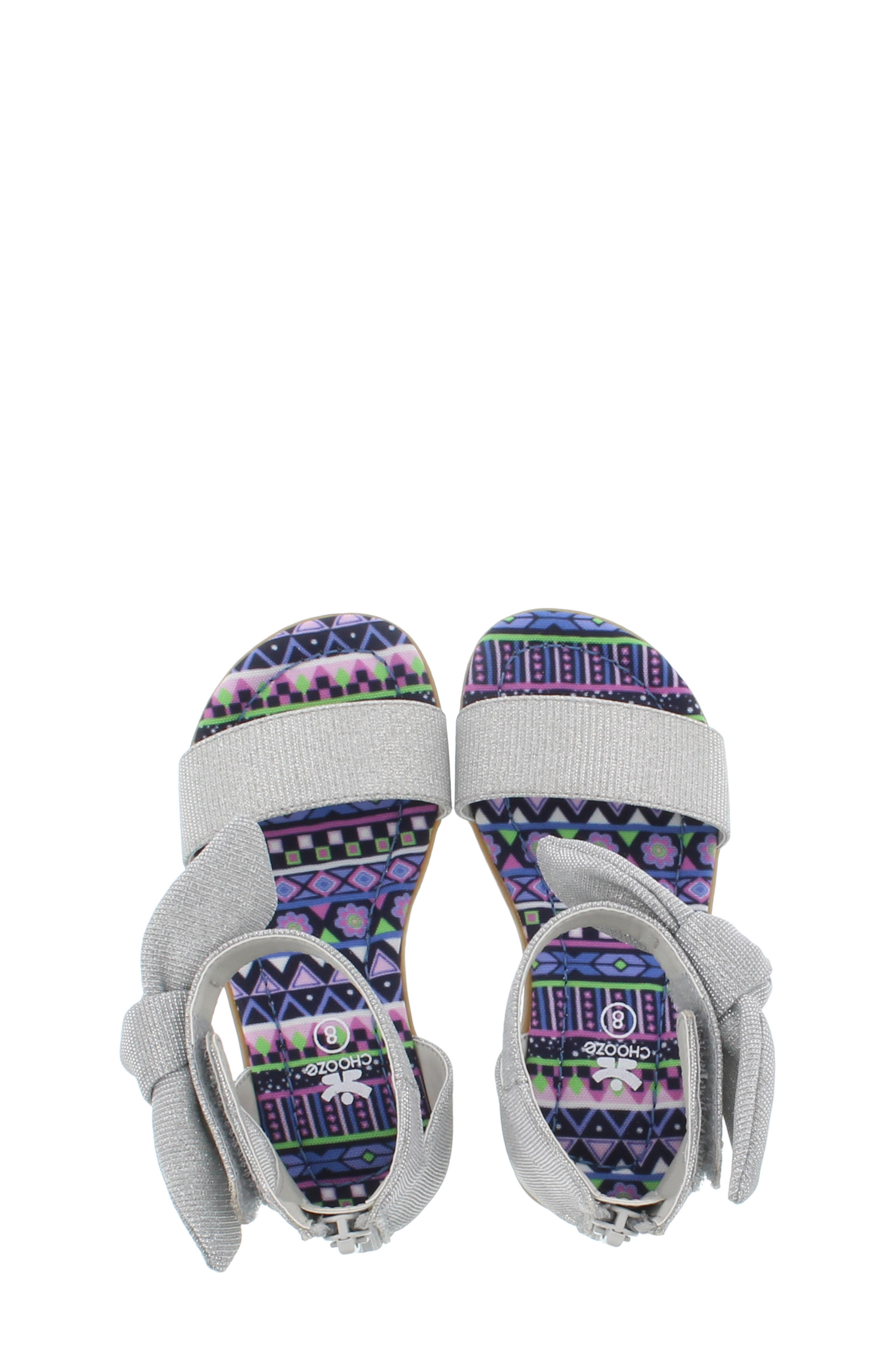 CHOOZE, Bright Daisy Sandal, Alternate thumbnail 5, color, SILVER