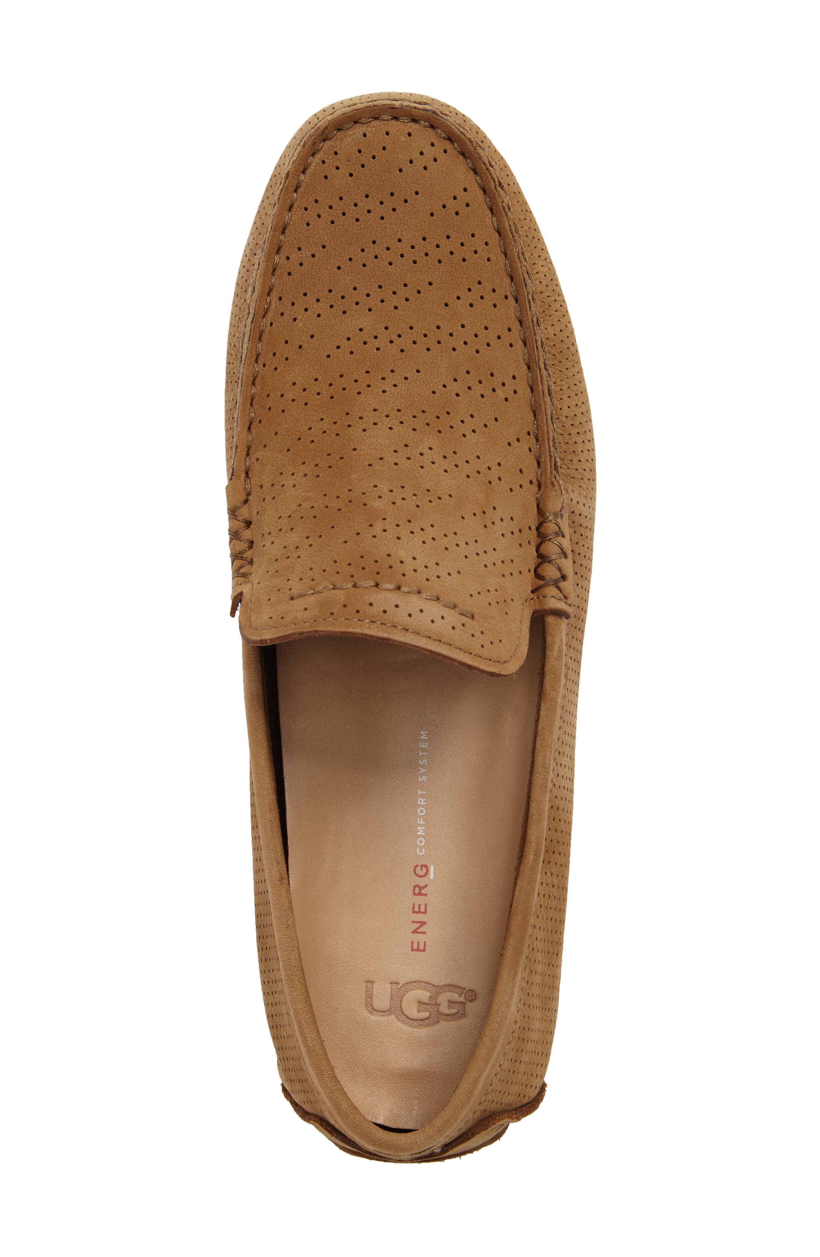 UGG<SUP>®</SUP>, Henrick Twinsole<sup>®</sup> Driving Shoe, Alternate thumbnail 5, color, TAMARIND