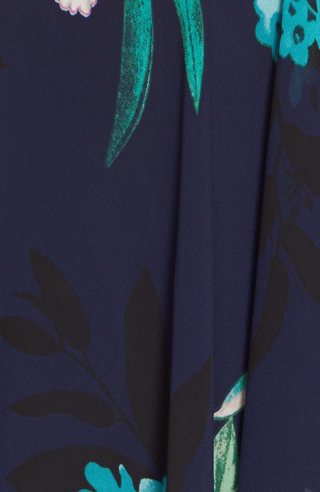 ELIZA J, Floral Print Chiffon High/Low Dress, Alternate thumbnail 2, color, 470