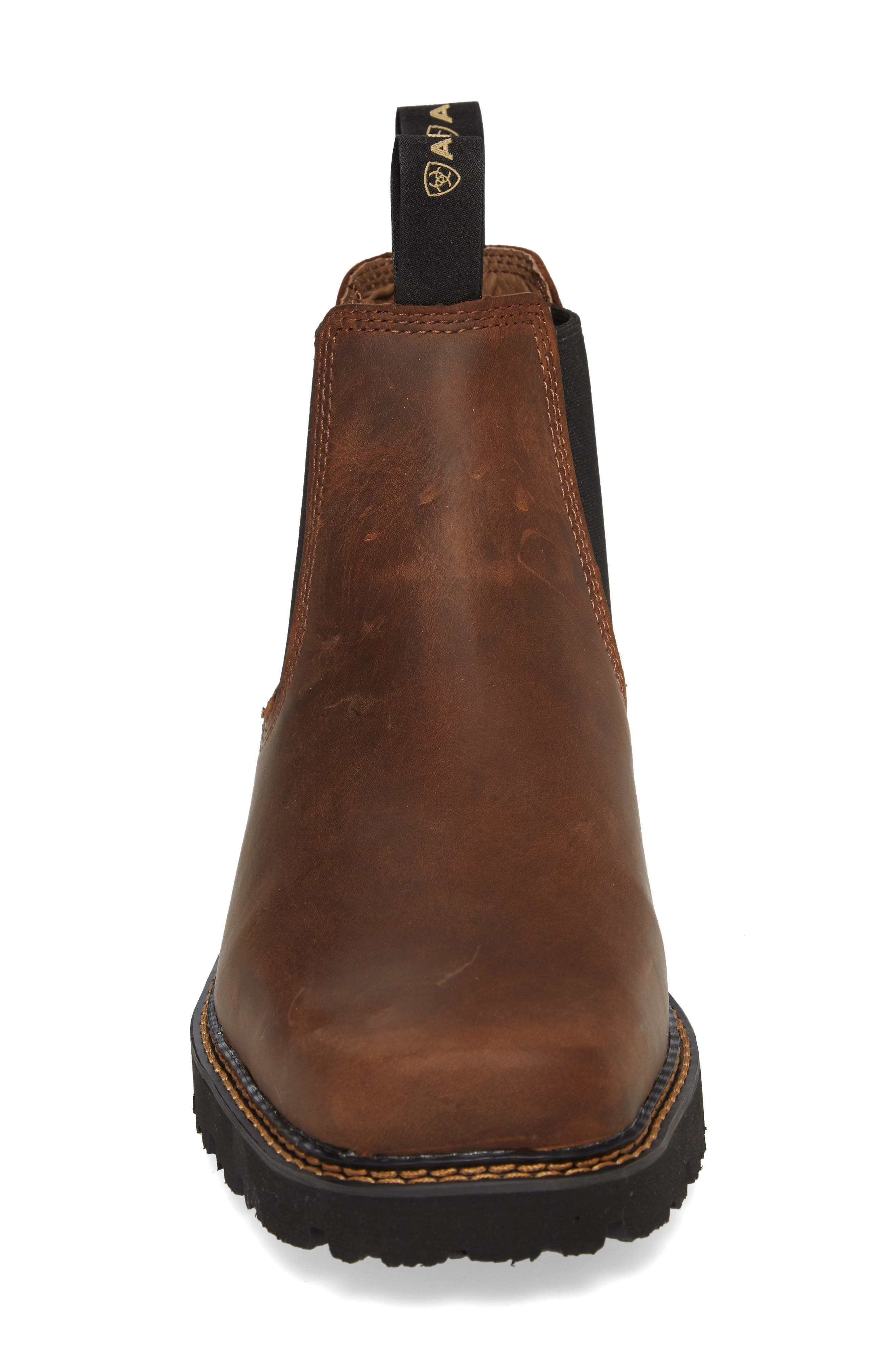 ARIAT, 'Spot Hog' Chelsea Boot, Alternate thumbnail 4, color, DISTRESSED BROWN LEATHER
