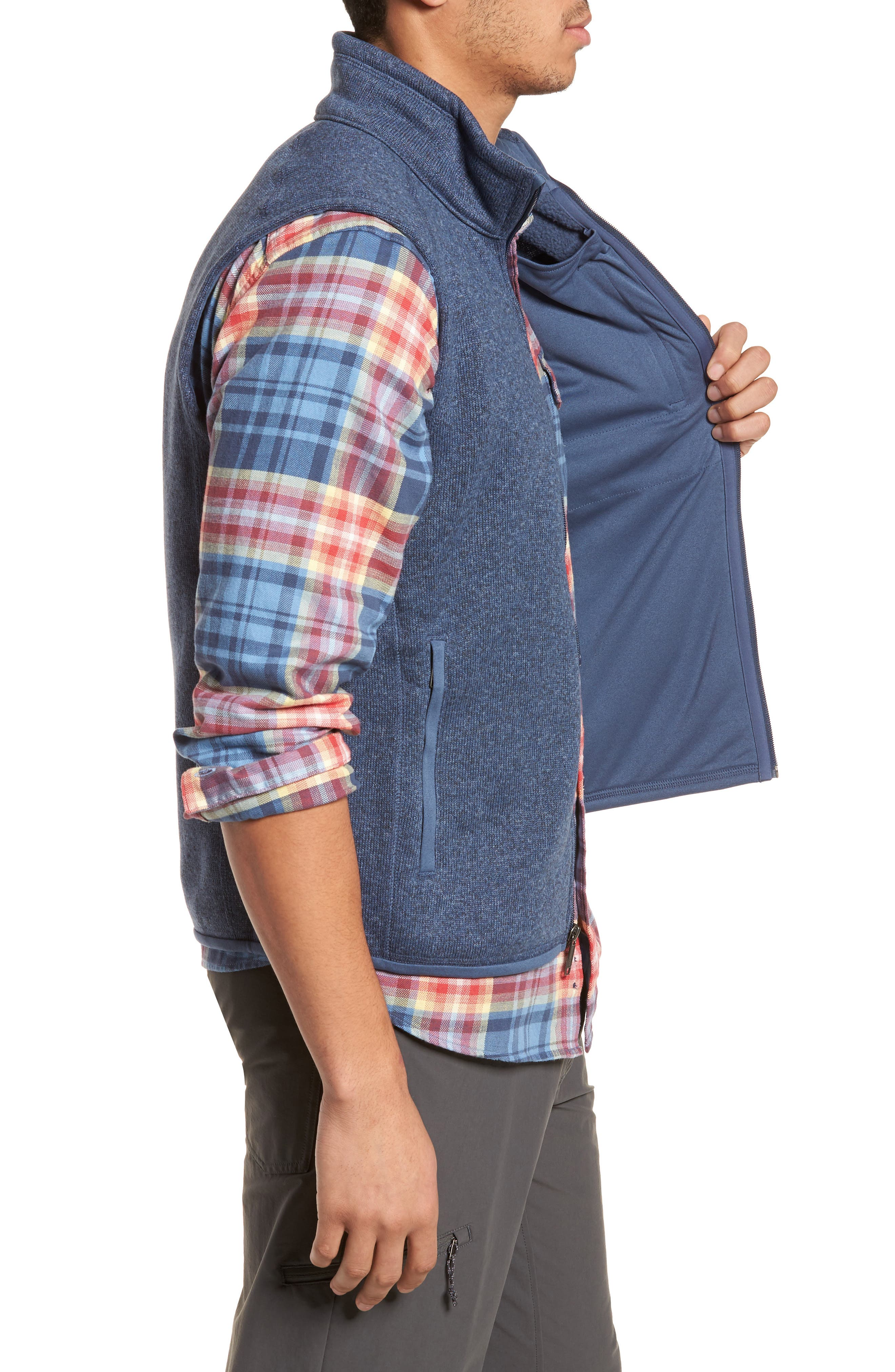PATAGONIA, 'Better Sweater' Zip Front Vest, Alternate thumbnail 3, color, DOLOMITE BLUE