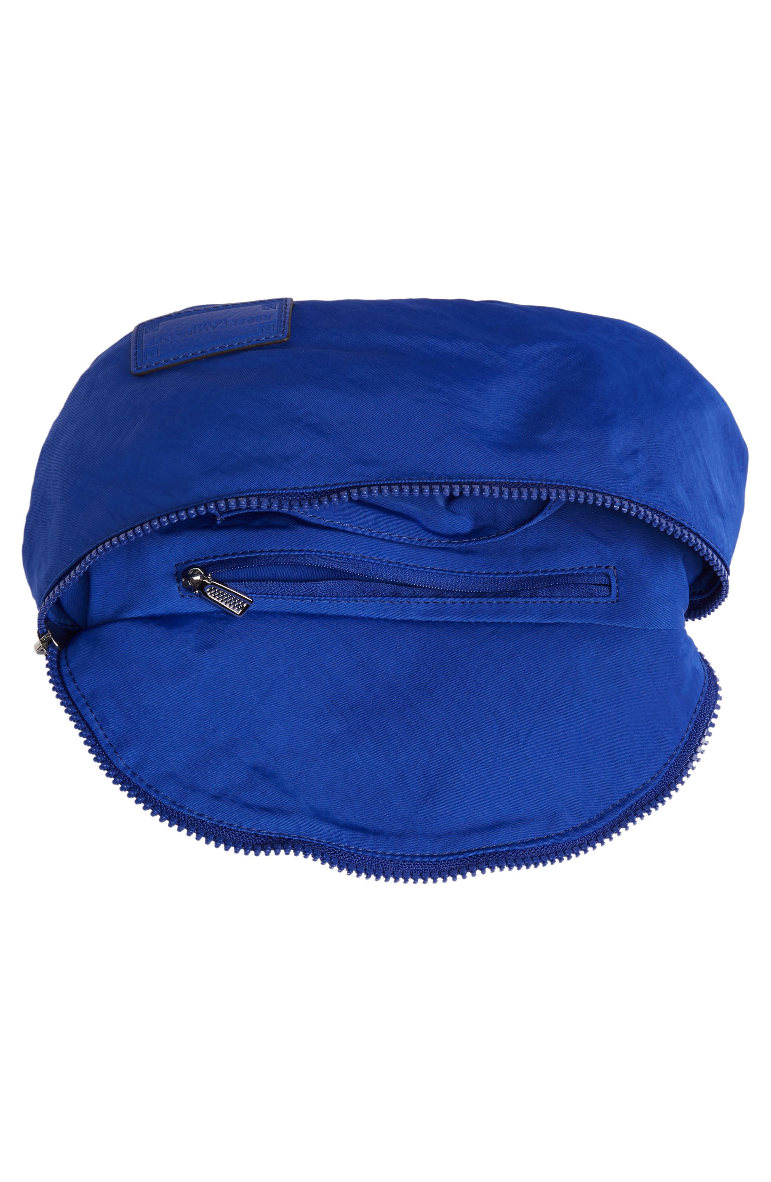 REBECCA MINKOFF, Nylon Belt Bag, Alternate thumbnail 6, color, BRIGHT BLUE