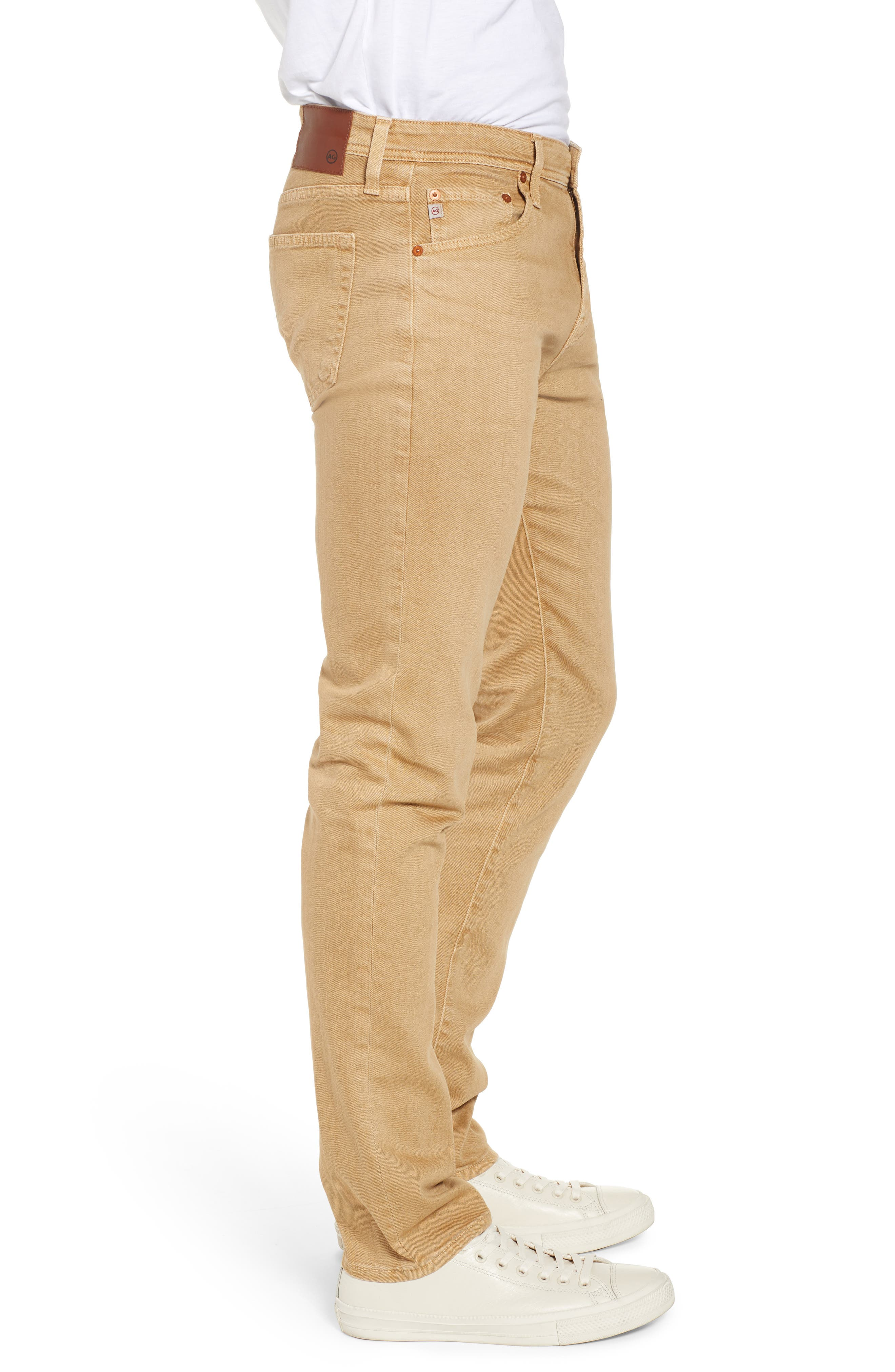 AG, Tellis Slim Fit Jeans, Alternate thumbnail 4, color, 7 YEARS TAWNY UMBER