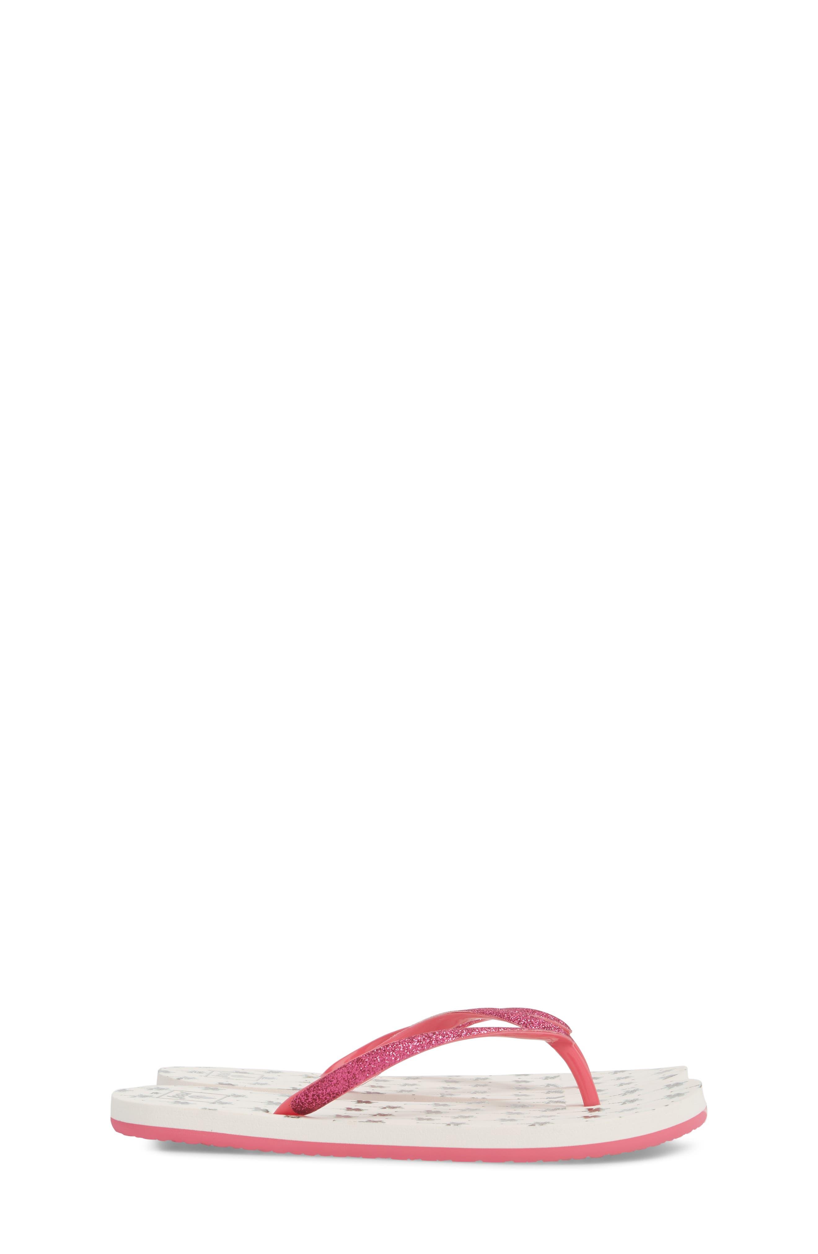 REEF, Little Stargazer Print Flip Flop, Alternate thumbnail 4, color, 105