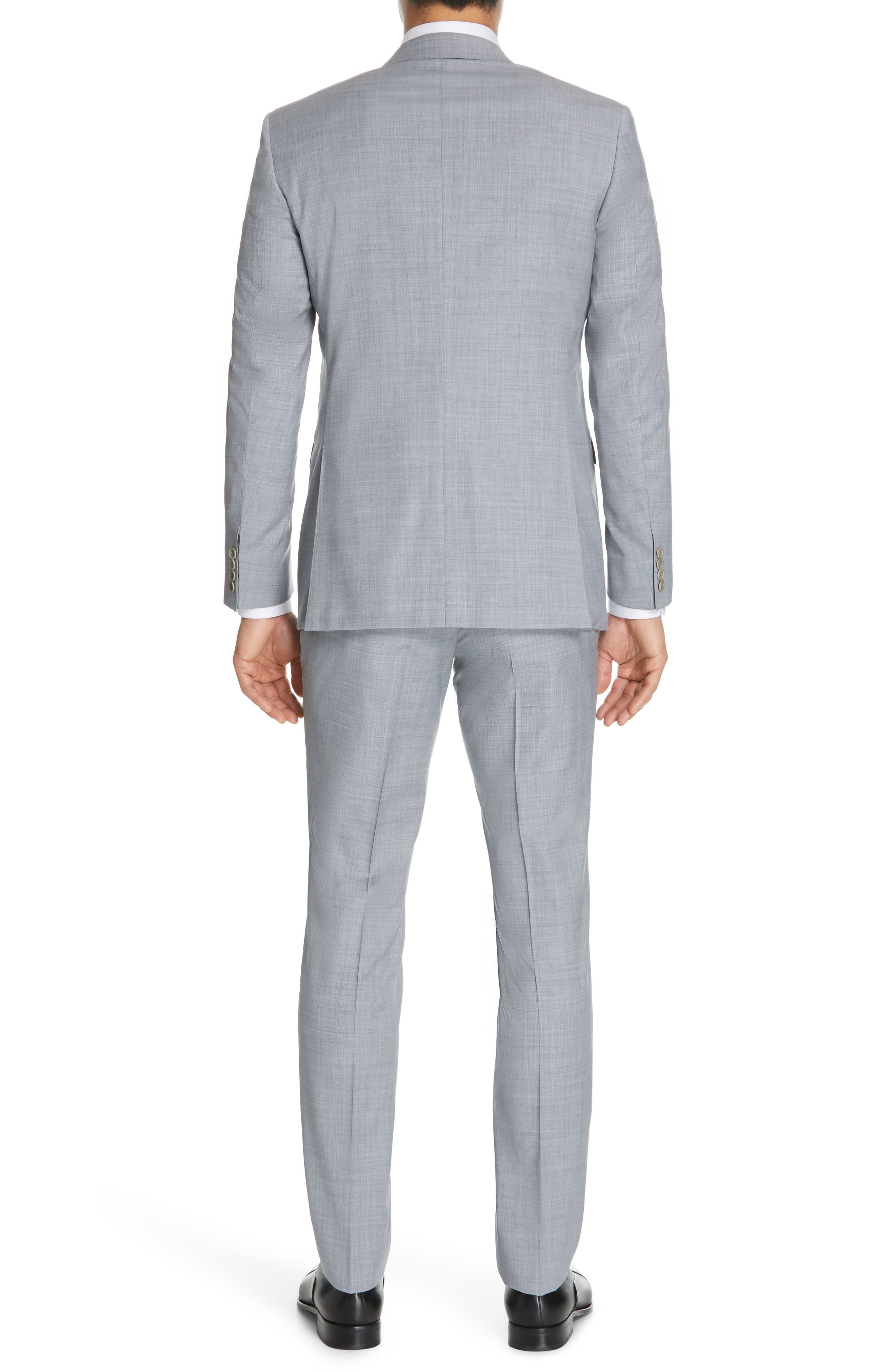 CANALI, Milano Classic Fit Solid Wool Suit, Alternate thumbnail 2, color, LIGHT GREY