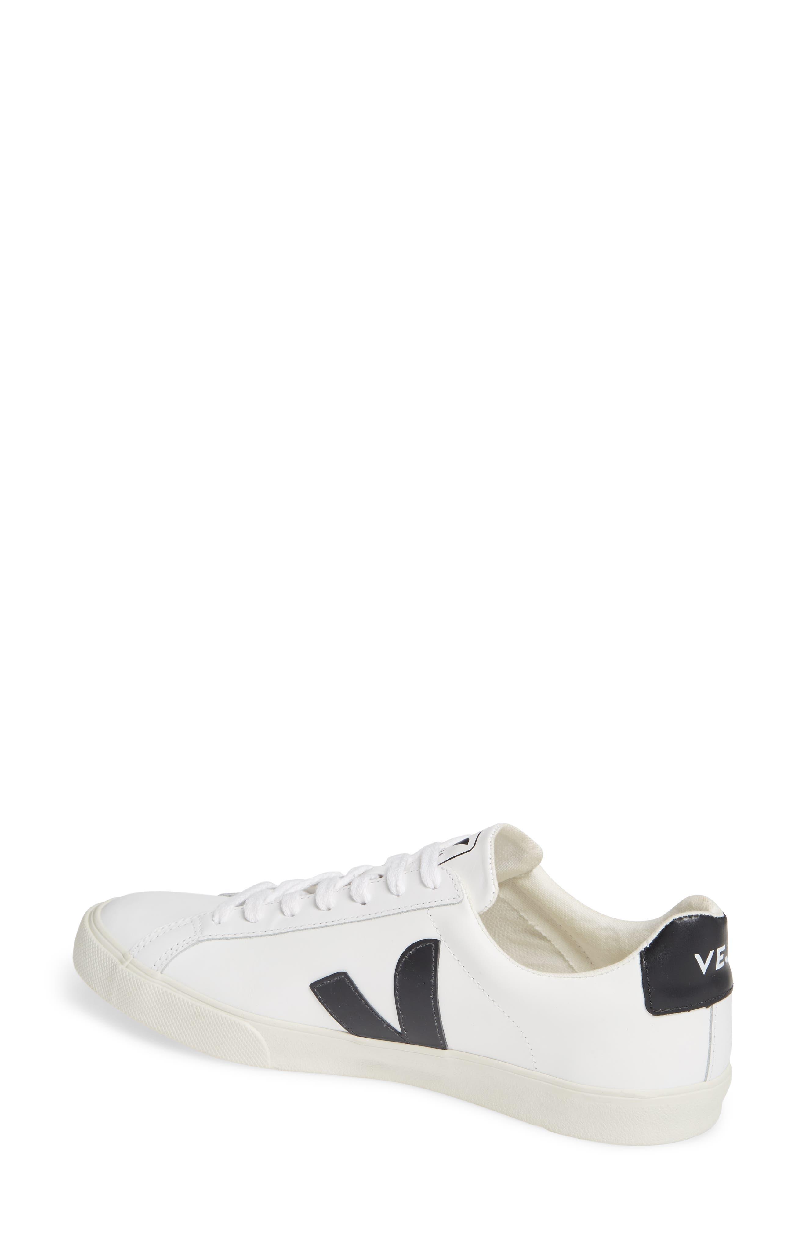 VEJA, Esplar Sneaker, Alternate thumbnail 2, color, EXTRA WHITE BLACK