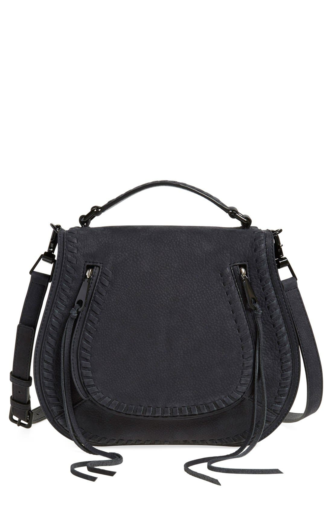 REBECCA MINKOFF Vanity Saddle Bag, Main, color, 001